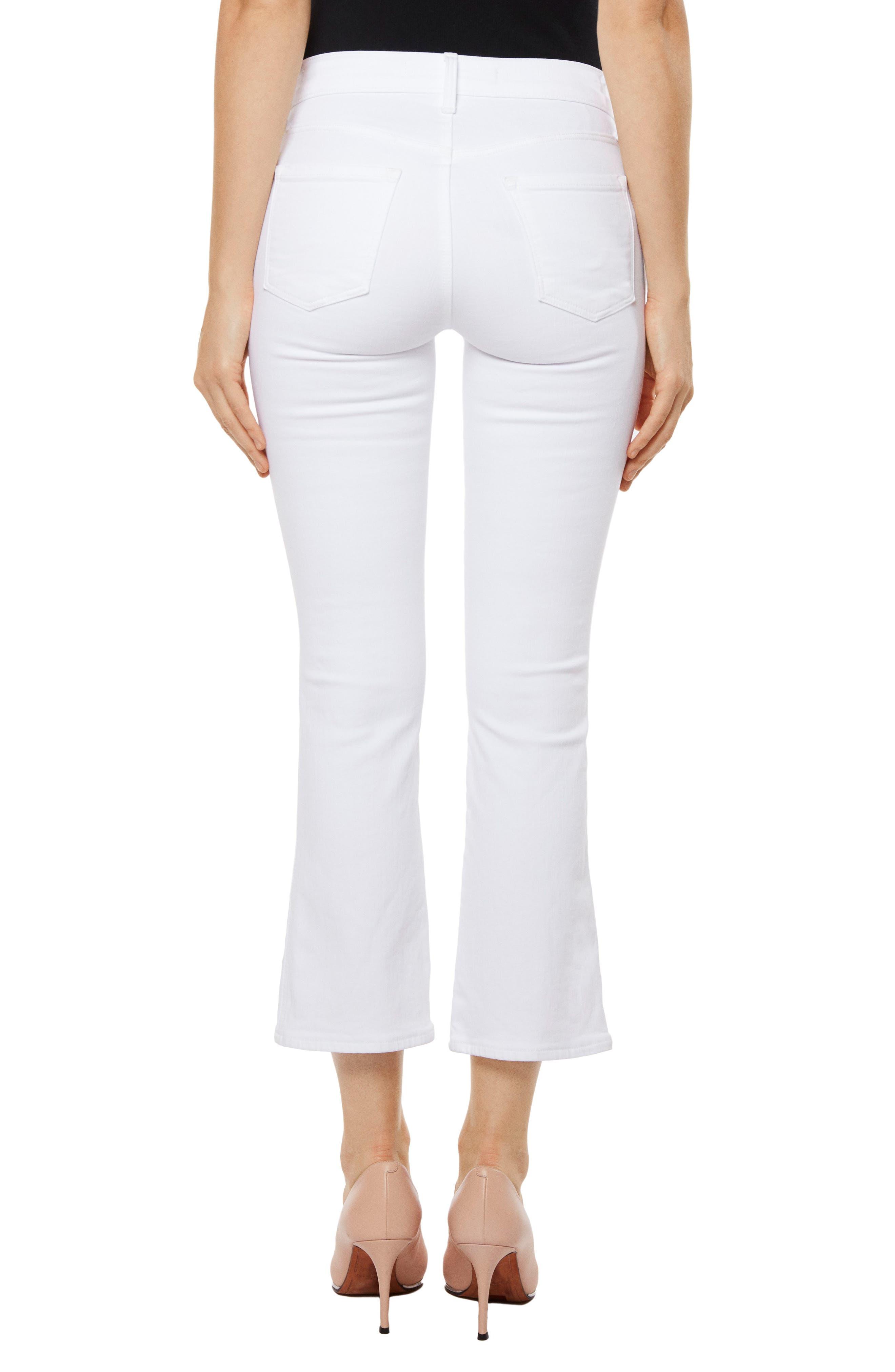 Zion Crop Flare Jeans,                             Alternate thumbnail 2, color,                             Blanc