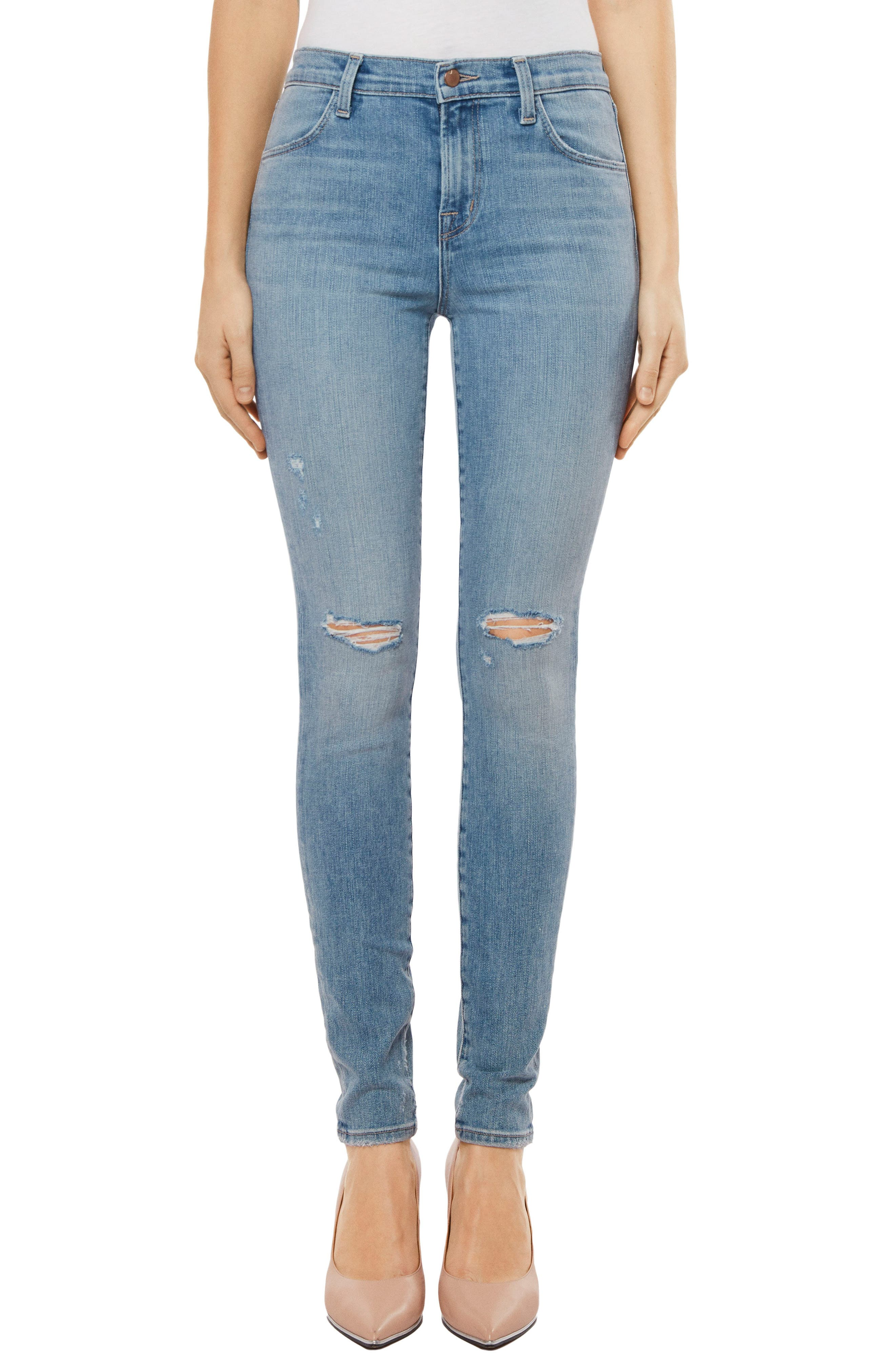 Maria High Waist Skinny Jeans,                             Main thumbnail 1, color,                             Surge Destruct