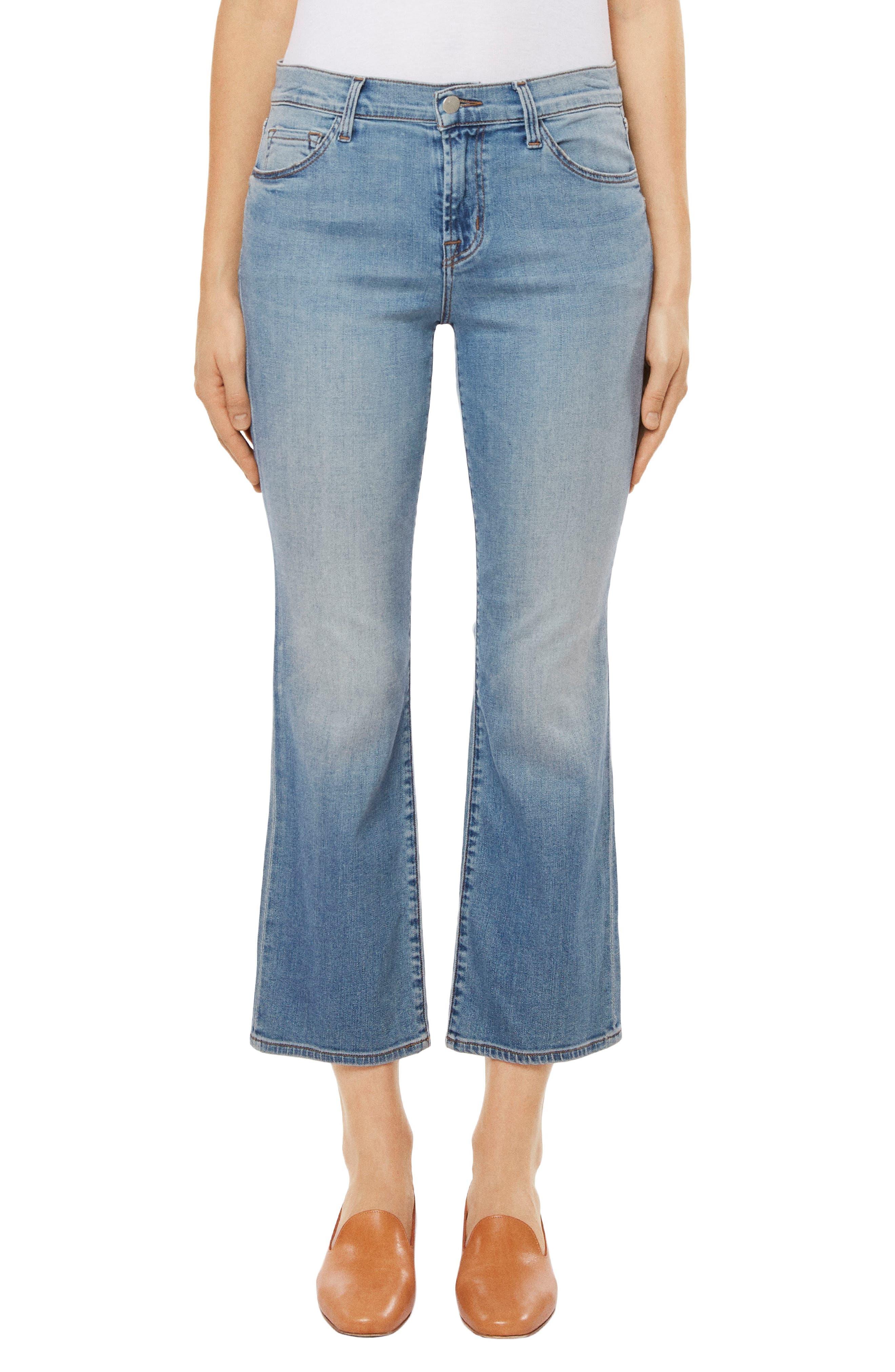Selena Crop Bootcut Jeans,                             Main thumbnail 1, color,                             Balearic