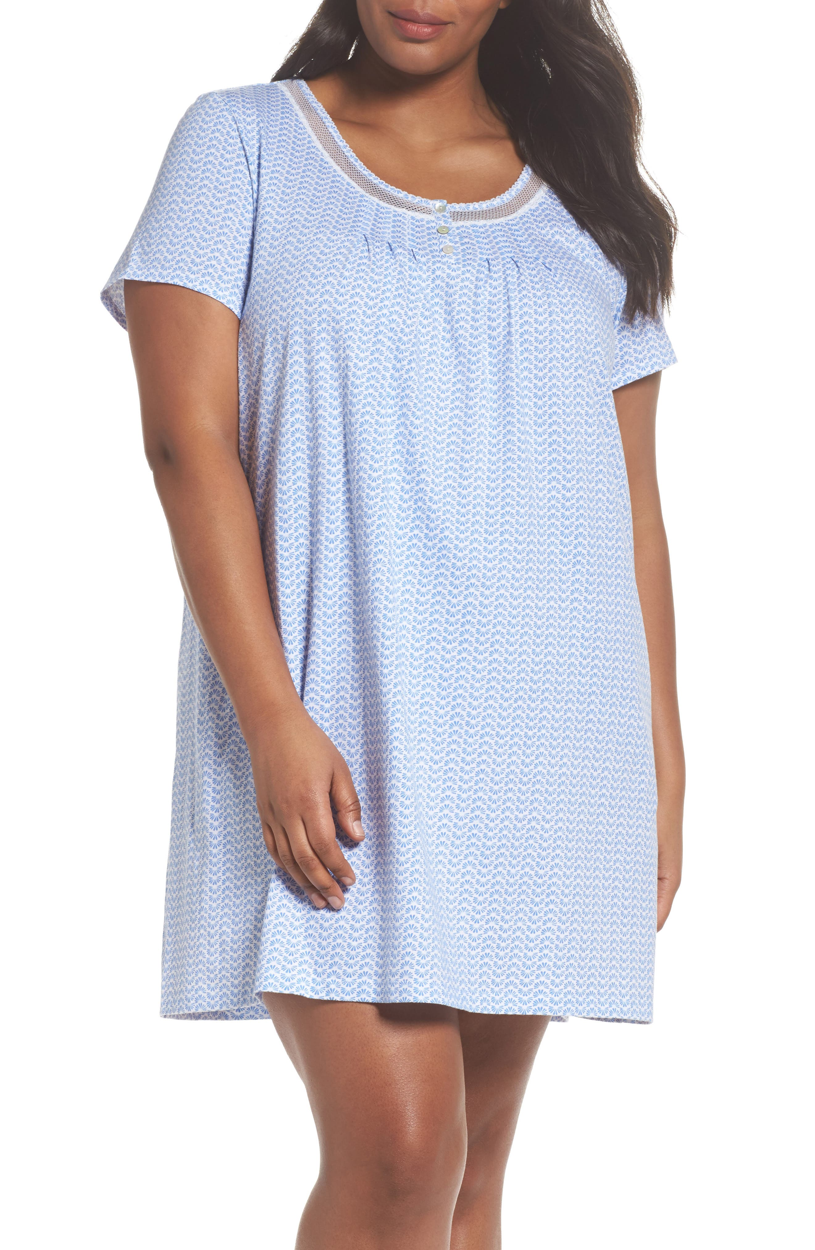 Carole Hochman Cotton Jersey Sleep Shirt (Plus Size)