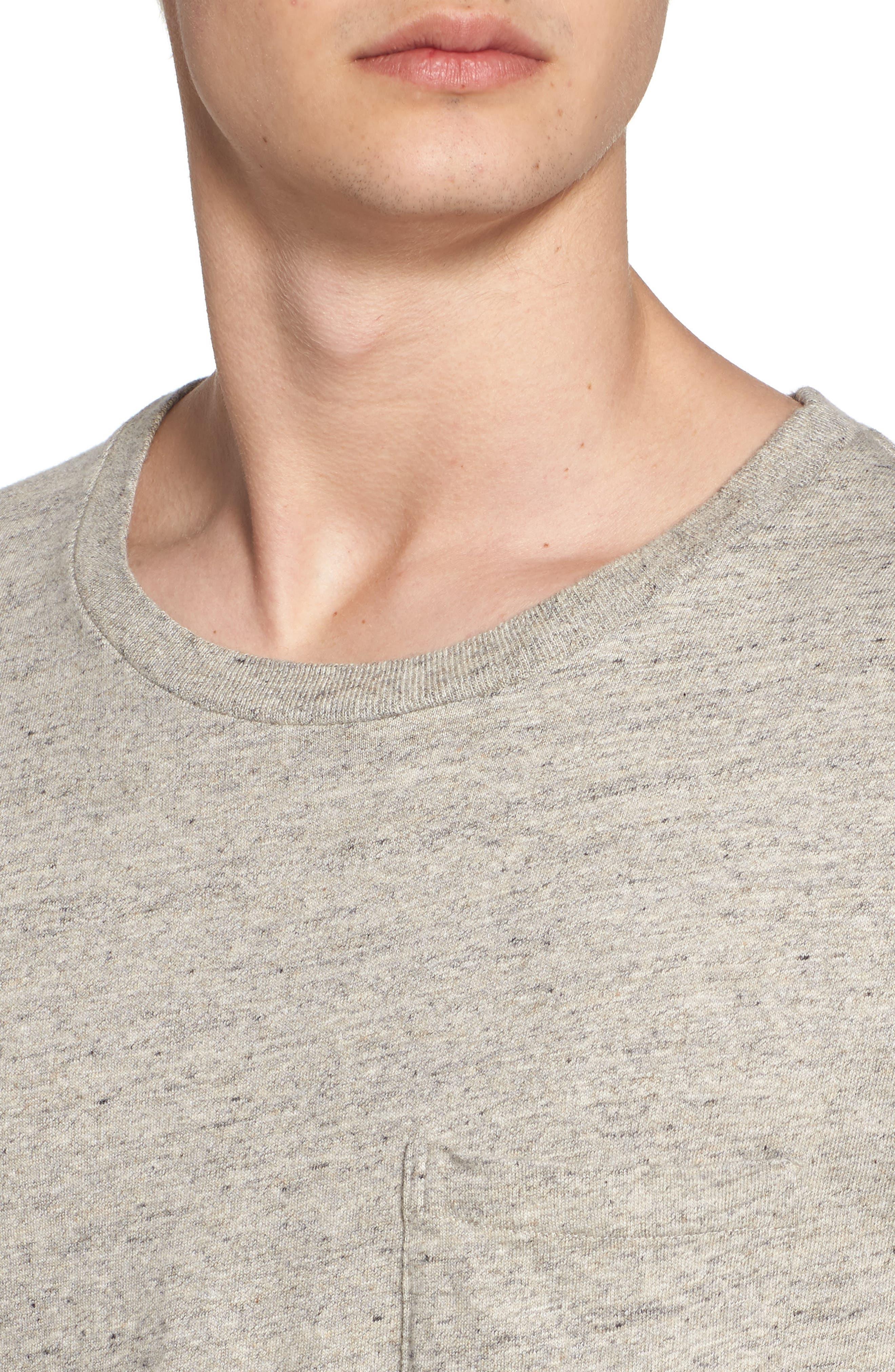 Levi's Vintage Clothing 1950s Sportswear Pocket T-Shirt,                             Alternate thumbnail 4, color,                             Grey