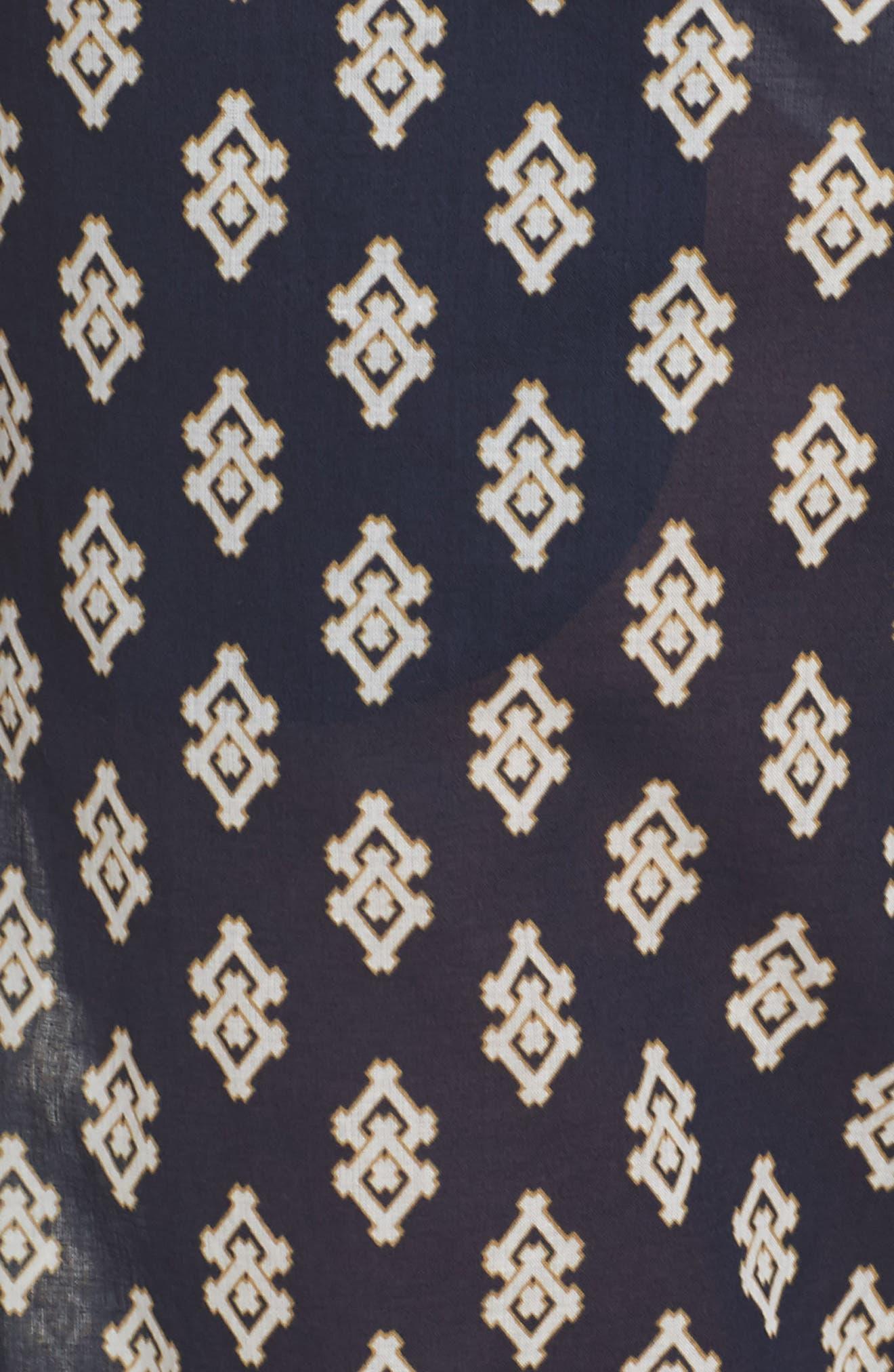 Double Diamond Cover-Up Pants,                             Alternate thumbnail 5, color,                             Tory Navy Double Diamonds
