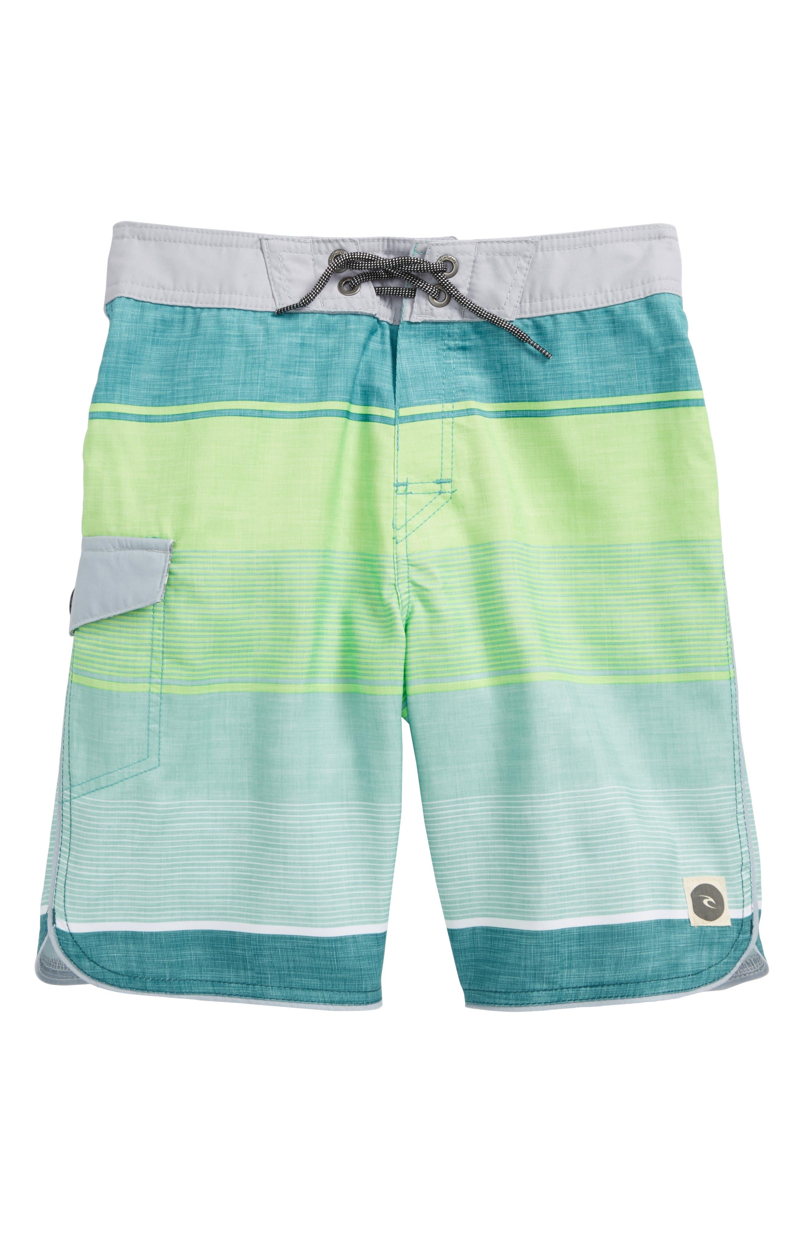 Good Vibes Board Shorts,                             Main thumbnail 1, color,                             Green