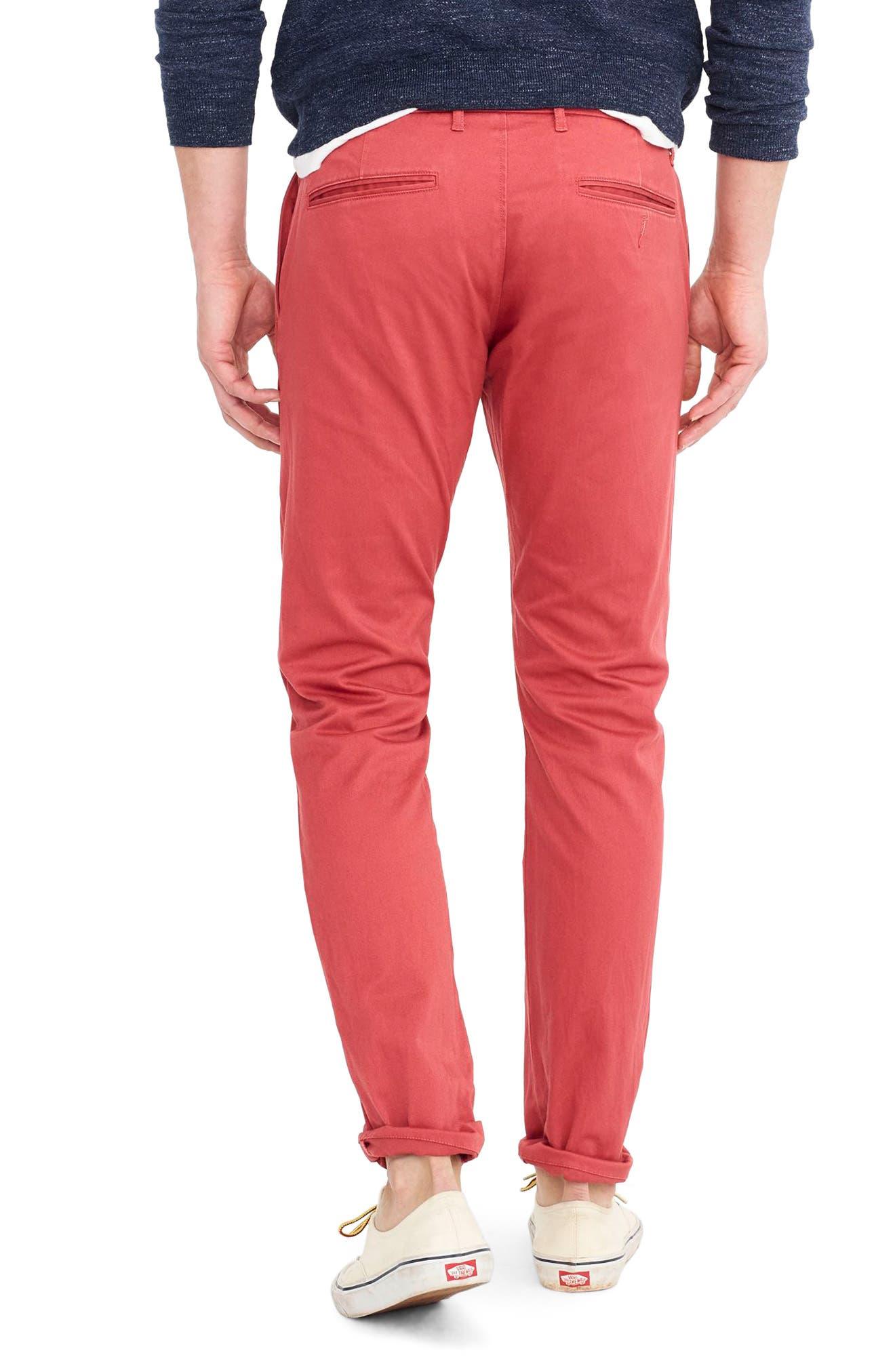 Alternate Image 2  - J.Crew 484 Slim Fit Stretch Chino Pants