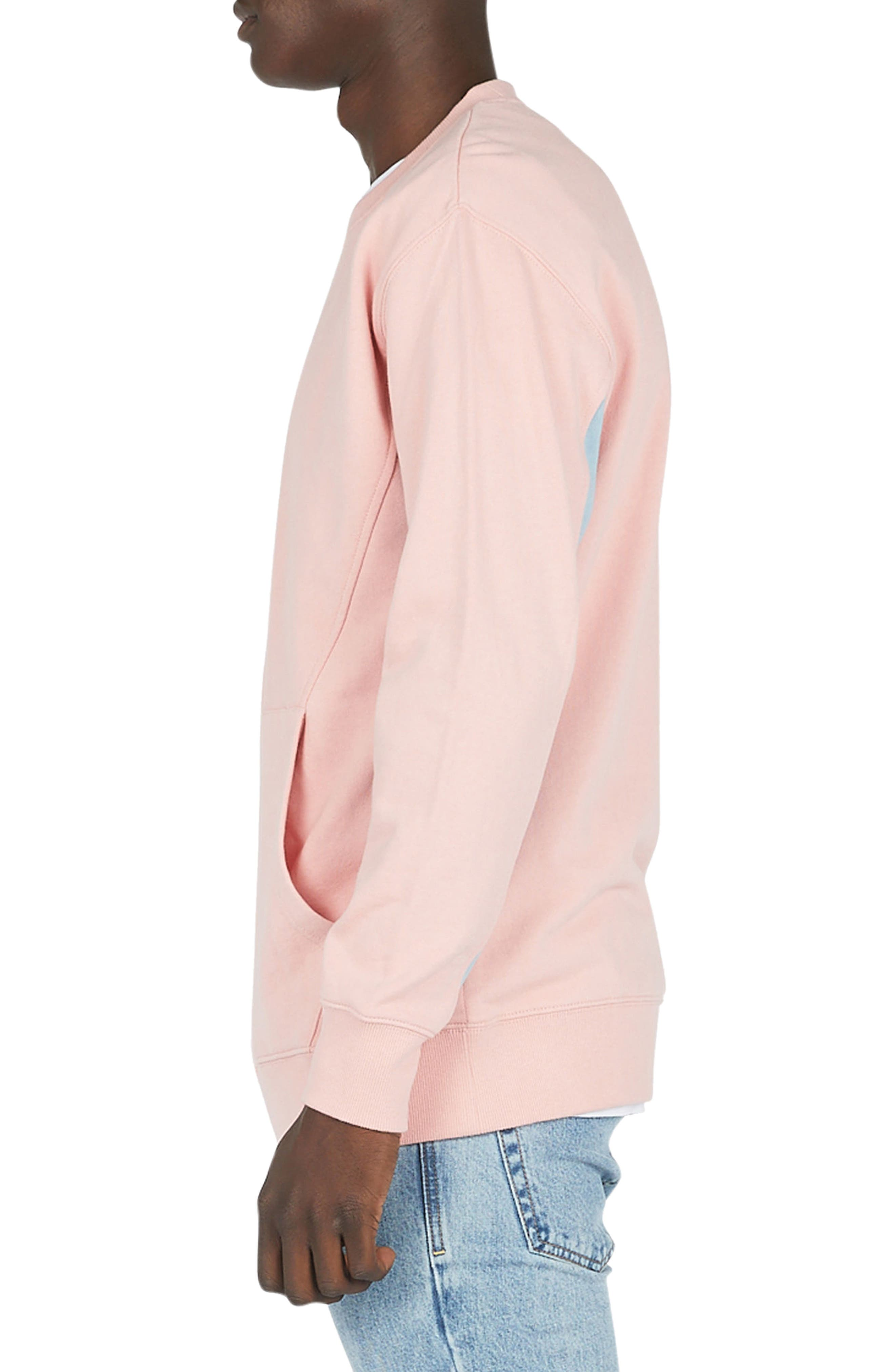 Sport Crew Sweater,                             Alternate thumbnail 3, color,                             Pink