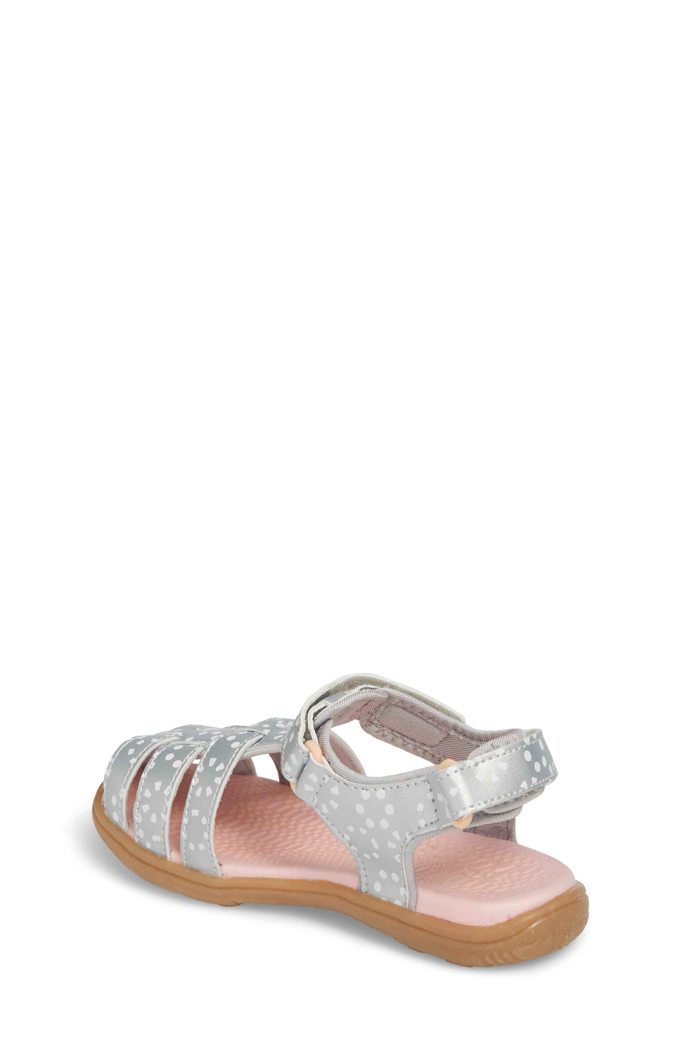 Paley Water Friendly Fisherman Sandal,                             Alternate thumbnail 3, color,                             Silver/ White