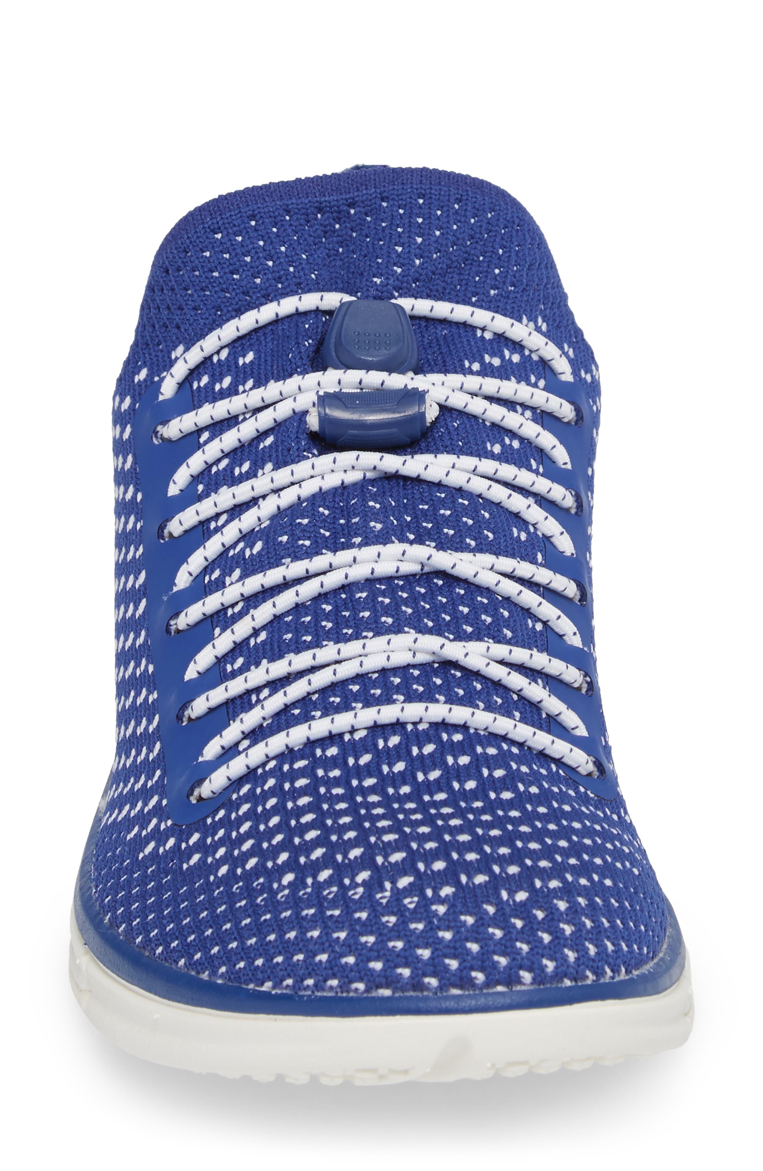 Zoe Sojourn Lace Knit Sneaker,                             Alternate thumbnail 4, color,                             Sodalite