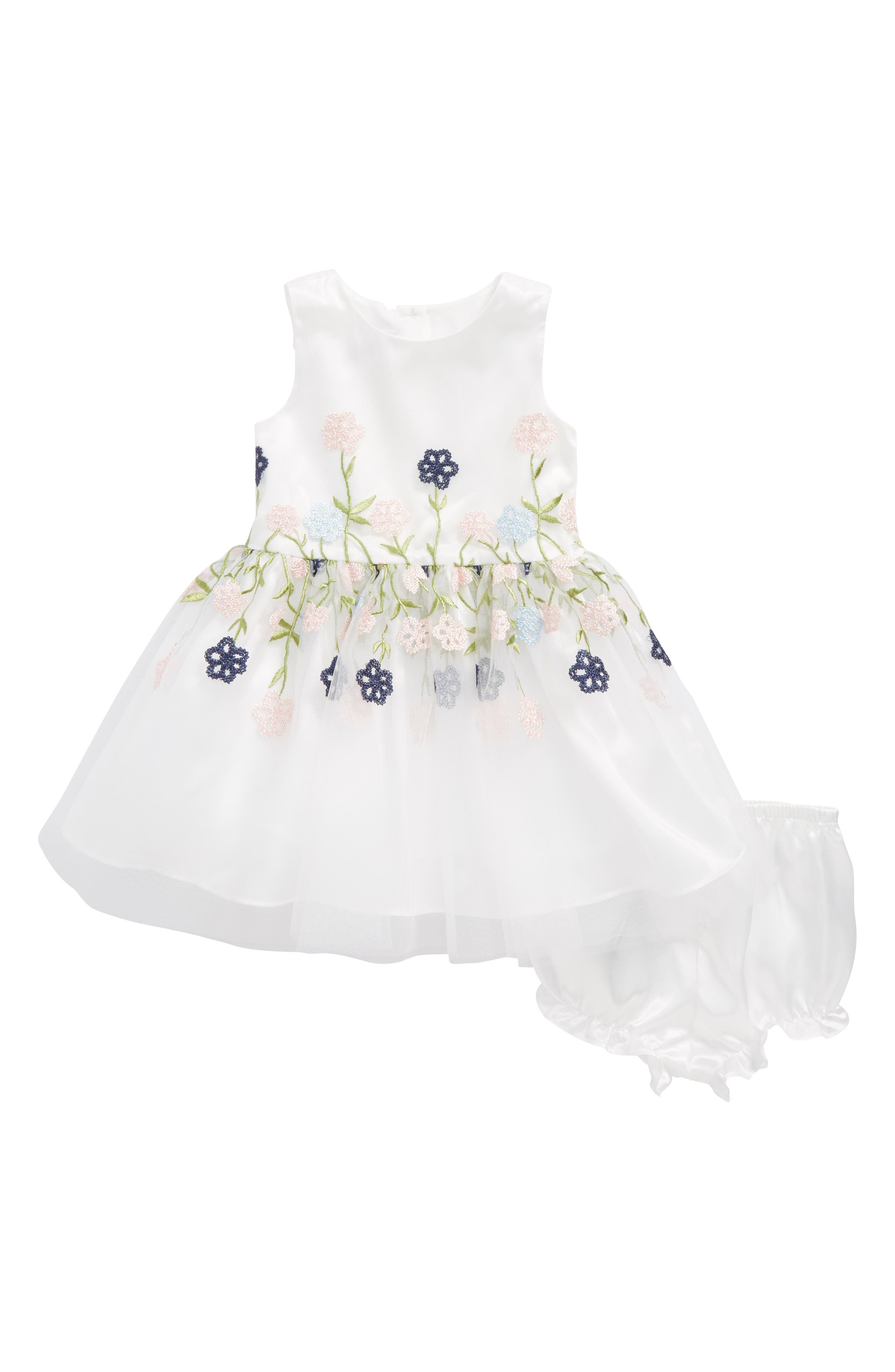 Frais Floral Embroidered Dress (Baby Girls)