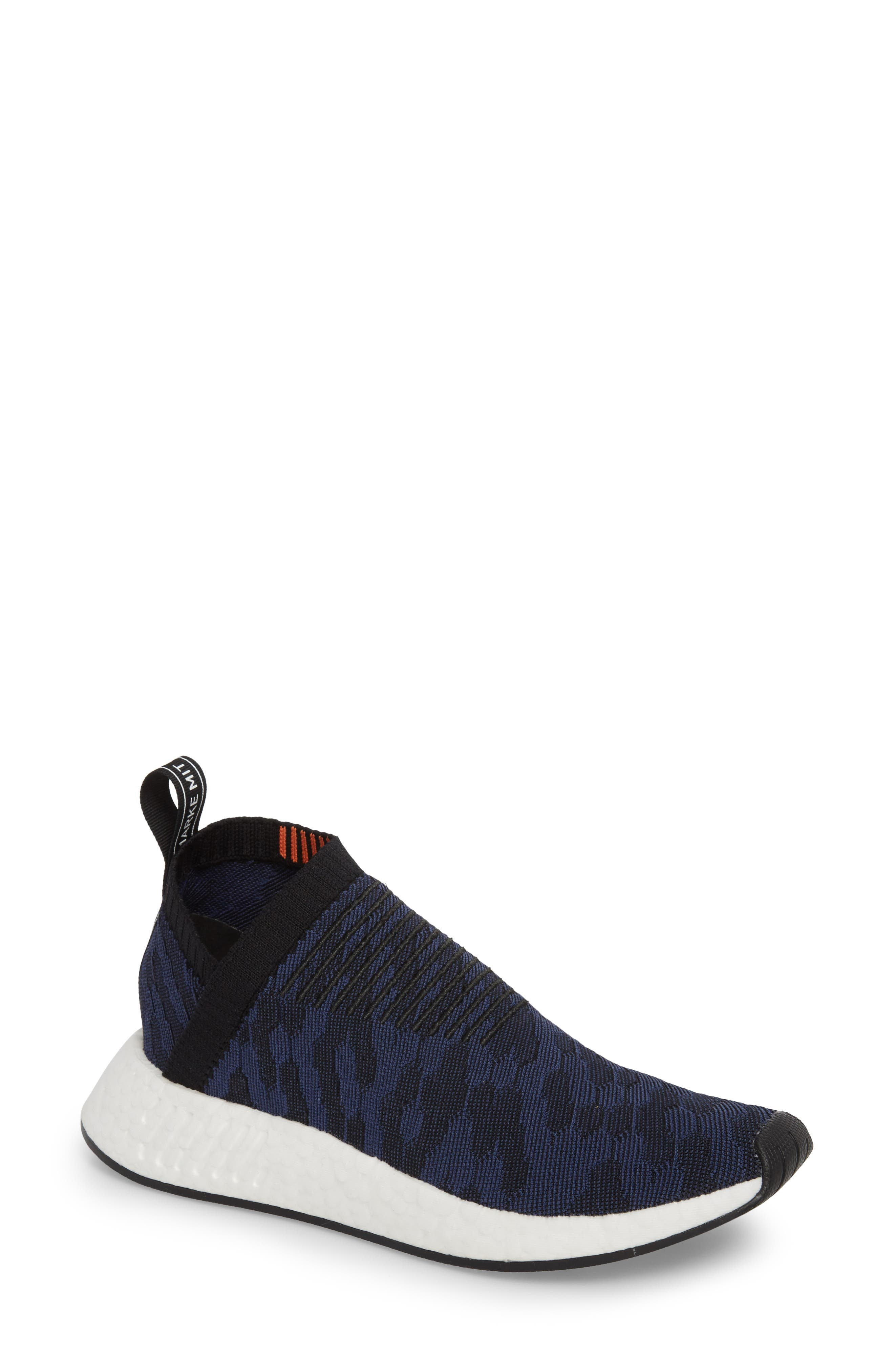 NMD CS2 Primeknit Sneaker,                             Main thumbnail 1, color,                             Core Black/ Noble Indigo
