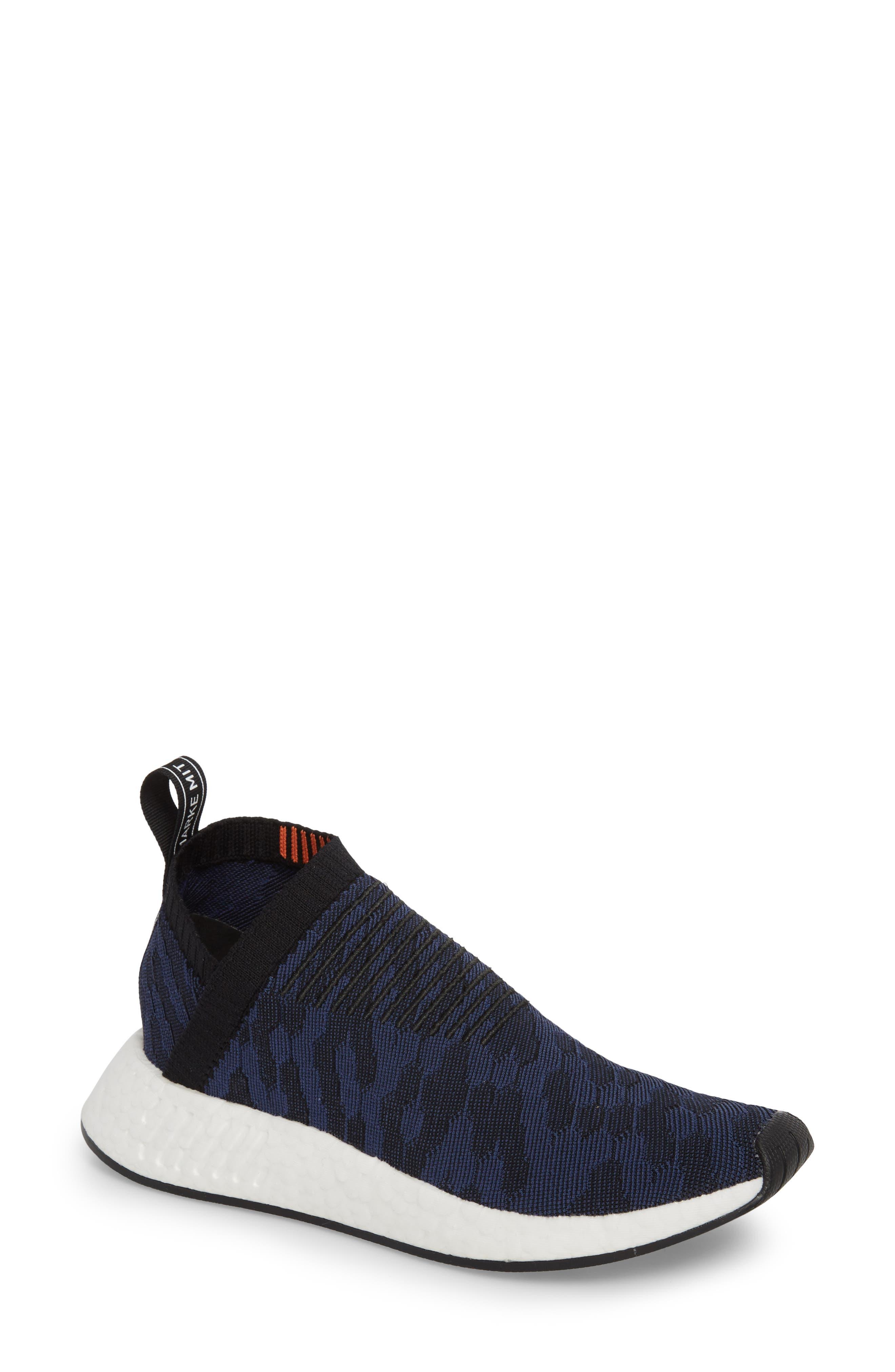 NMD CS2 Primeknit Sneaker,                         Main,                         color, Core Black/ Noble Indigo