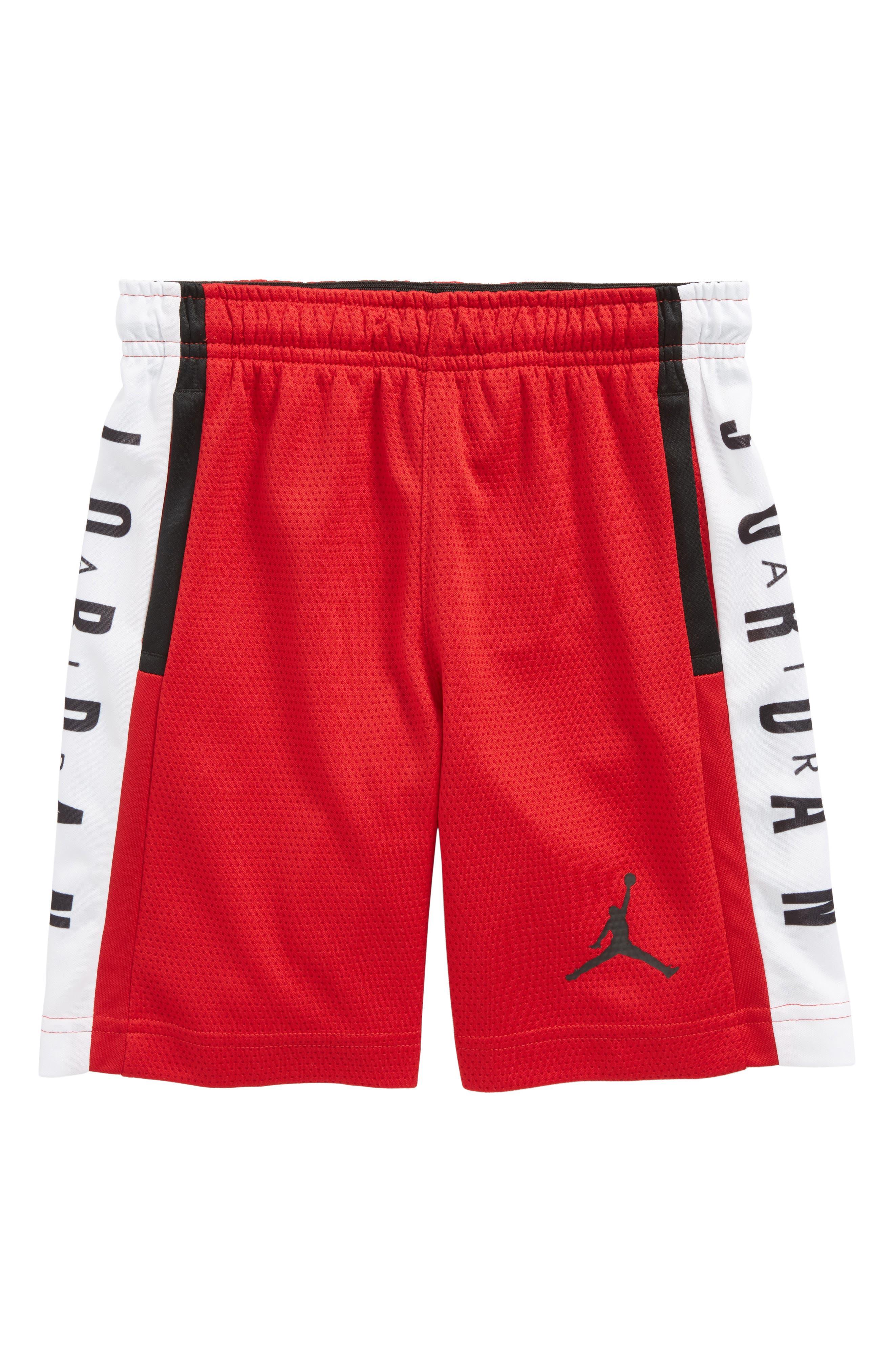 Jordan Rise Graphic Shorts,                             Main thumbnail 1, color,                             Gym Red