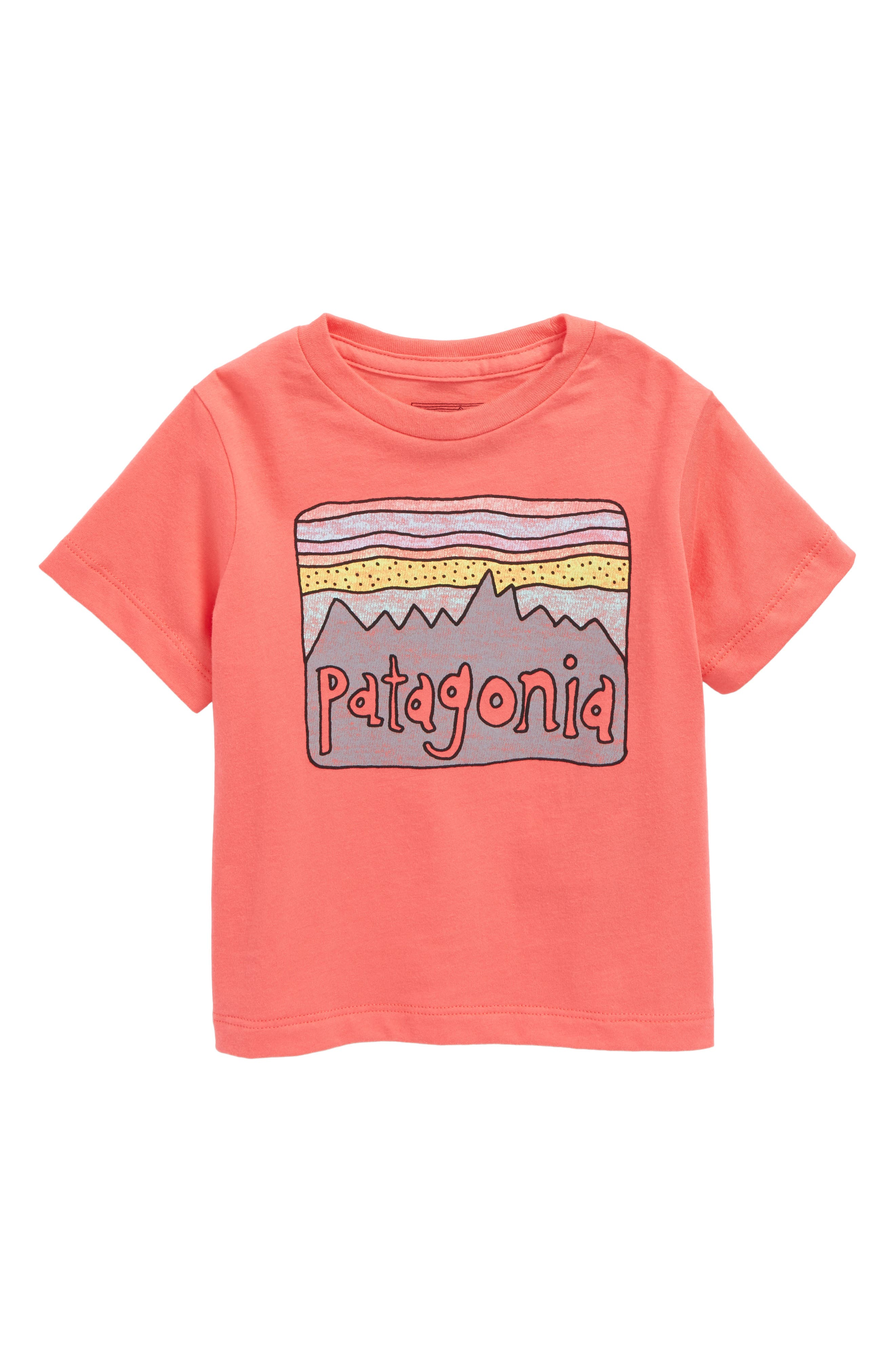 Main Image - Patagonia Fitz Roy Skies Graphic Organic Cotton Tee (Baby Girls)