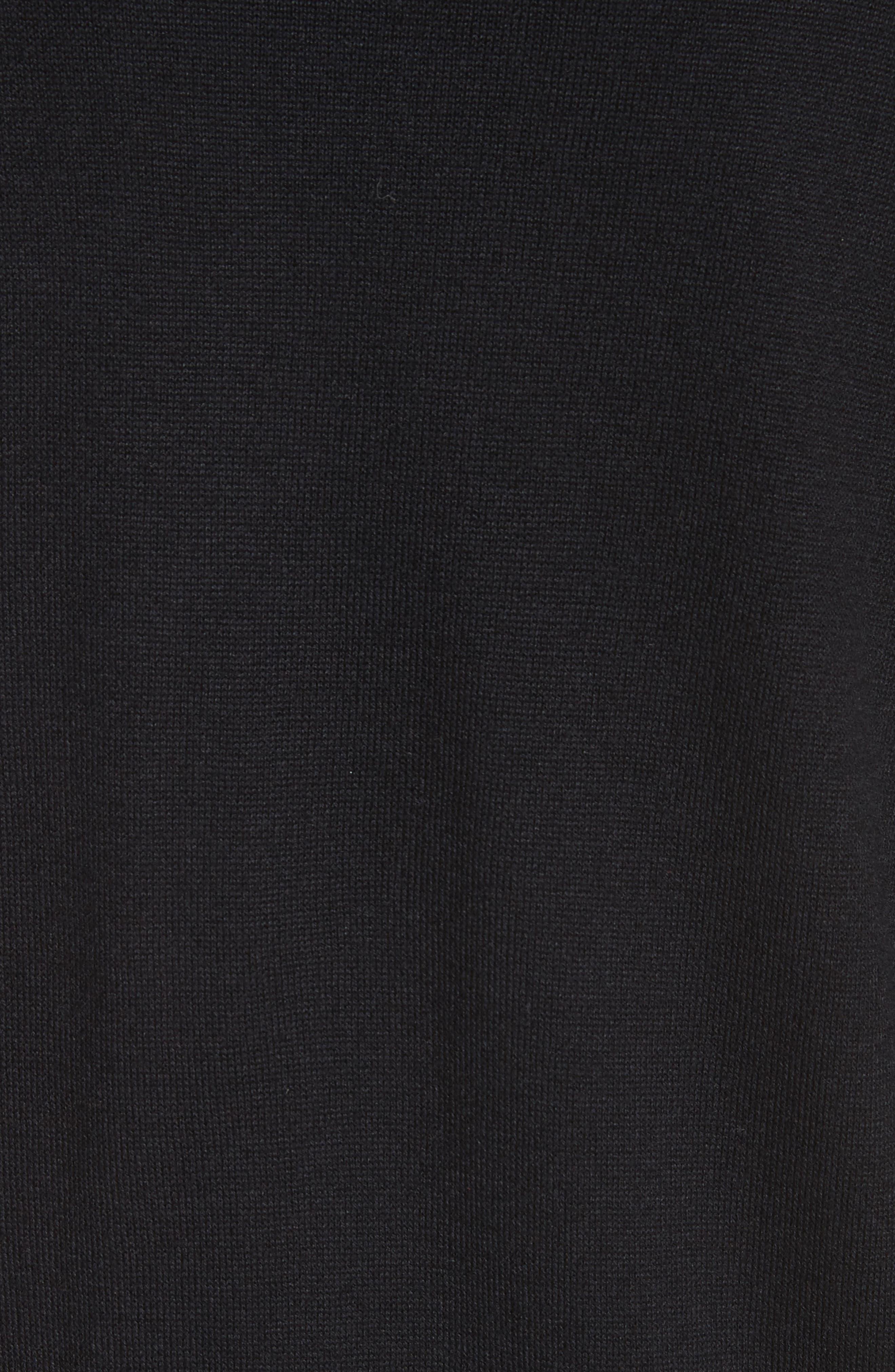 Modern Floral Hammered Satin & Jersey Knit Cardigan,                             Alternate thumbnail 6, color,                             Caviar Multi