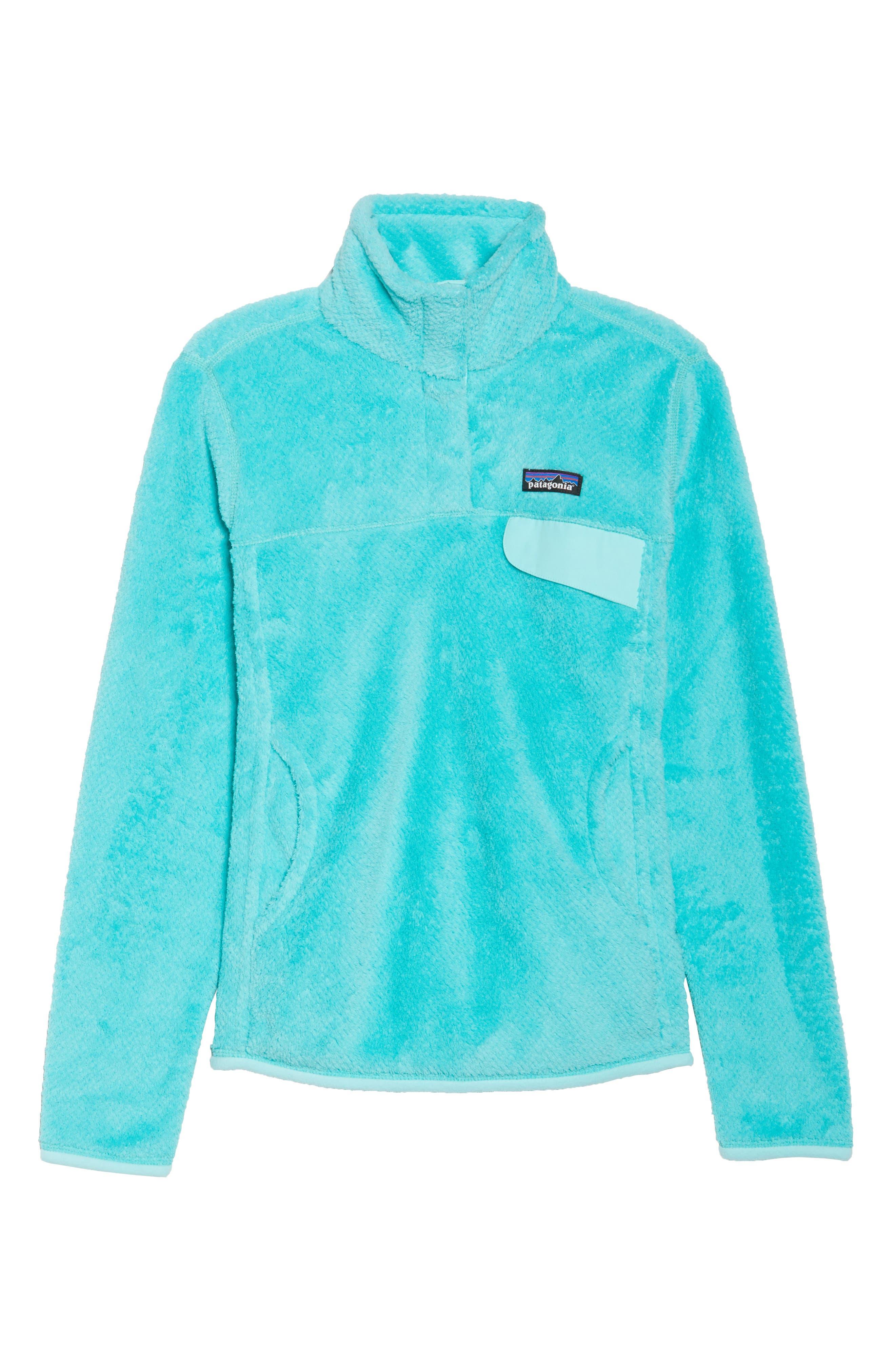 Re-Tool Snap-T<sup>®</sup> Fleece Pullover,                             Alternate thumbnail 7, color,                             Bend Blue/ Strait Blue X Dye
