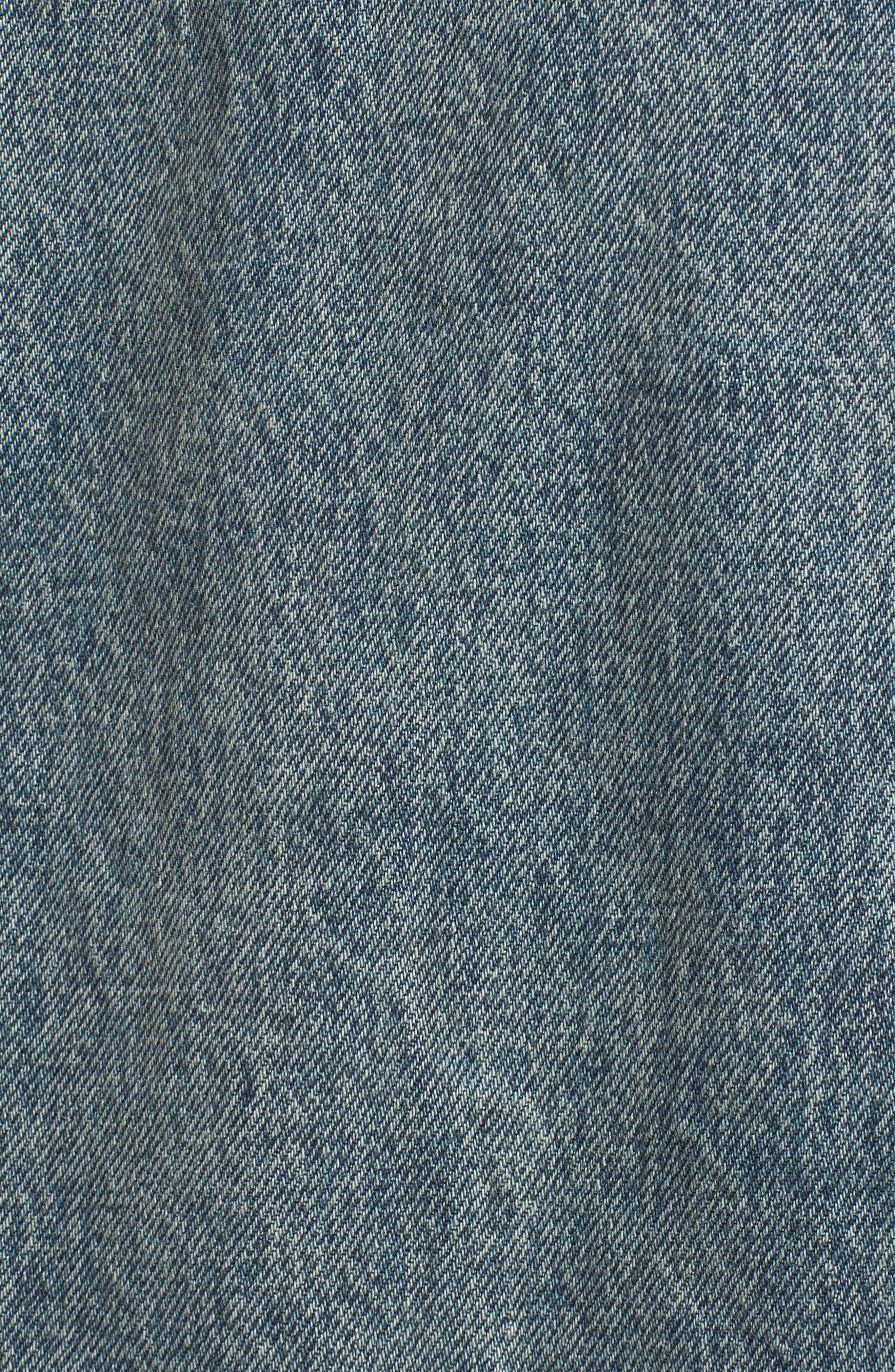 Denim Trucker Jacket,                             Alternate thumbnail 5, color,                             Blue Vintage Wash