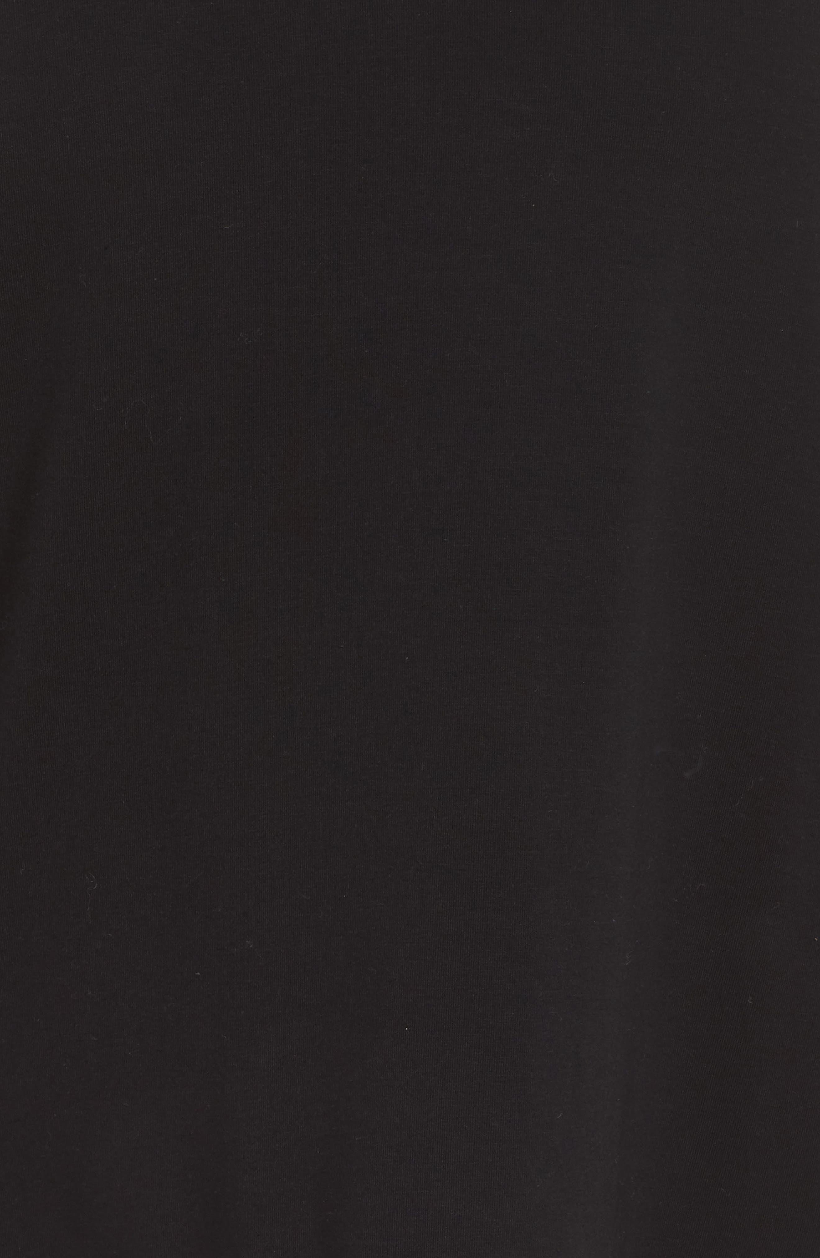Organic Jersey Side Zip Top,                             Alternate thumbnail 6, color,                             Black