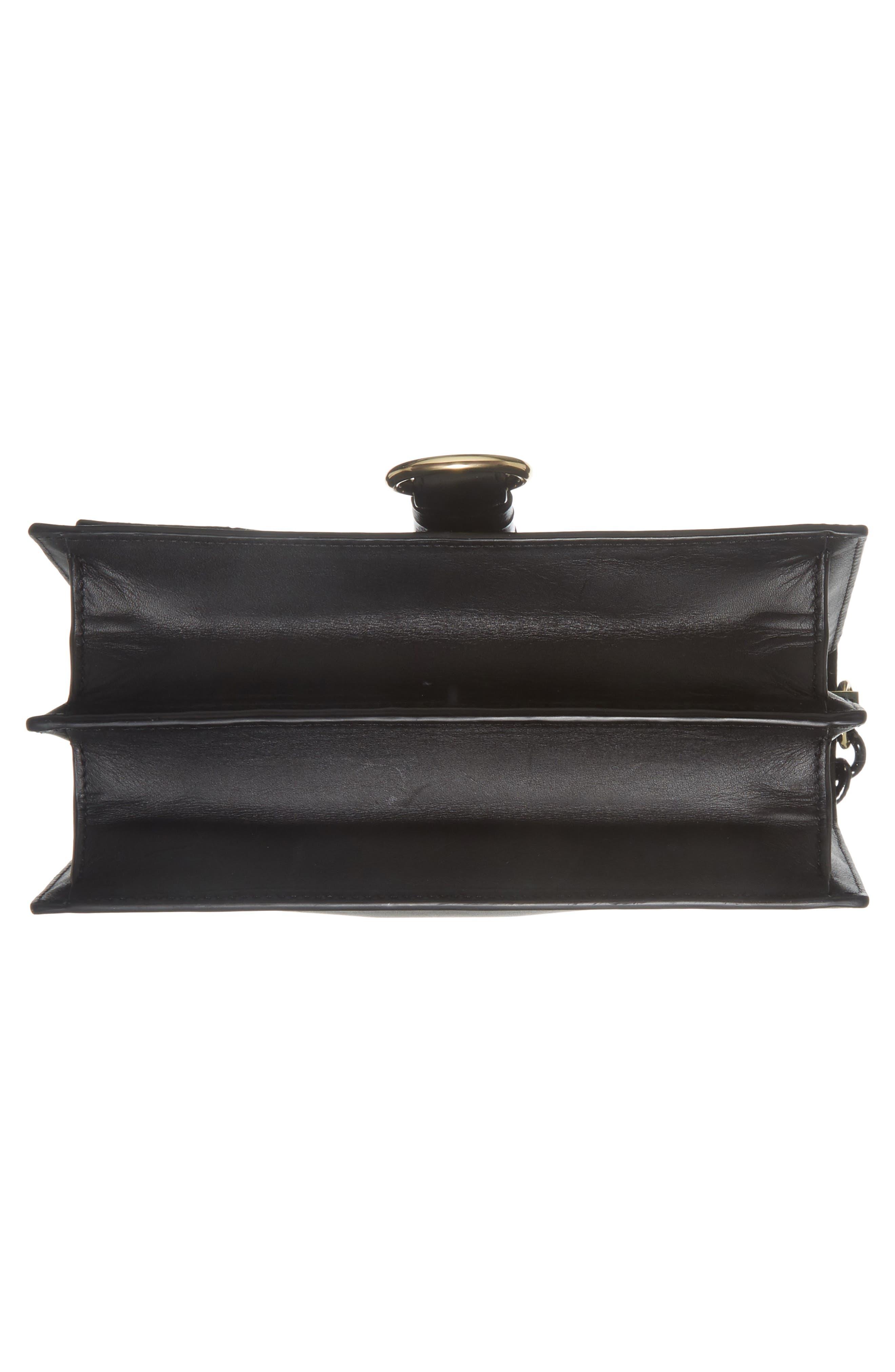 Bonne Journée Leather & Genuine Snakeskin Crossbody Bag,                             Alternate thumbnail 6, color,                             Black
