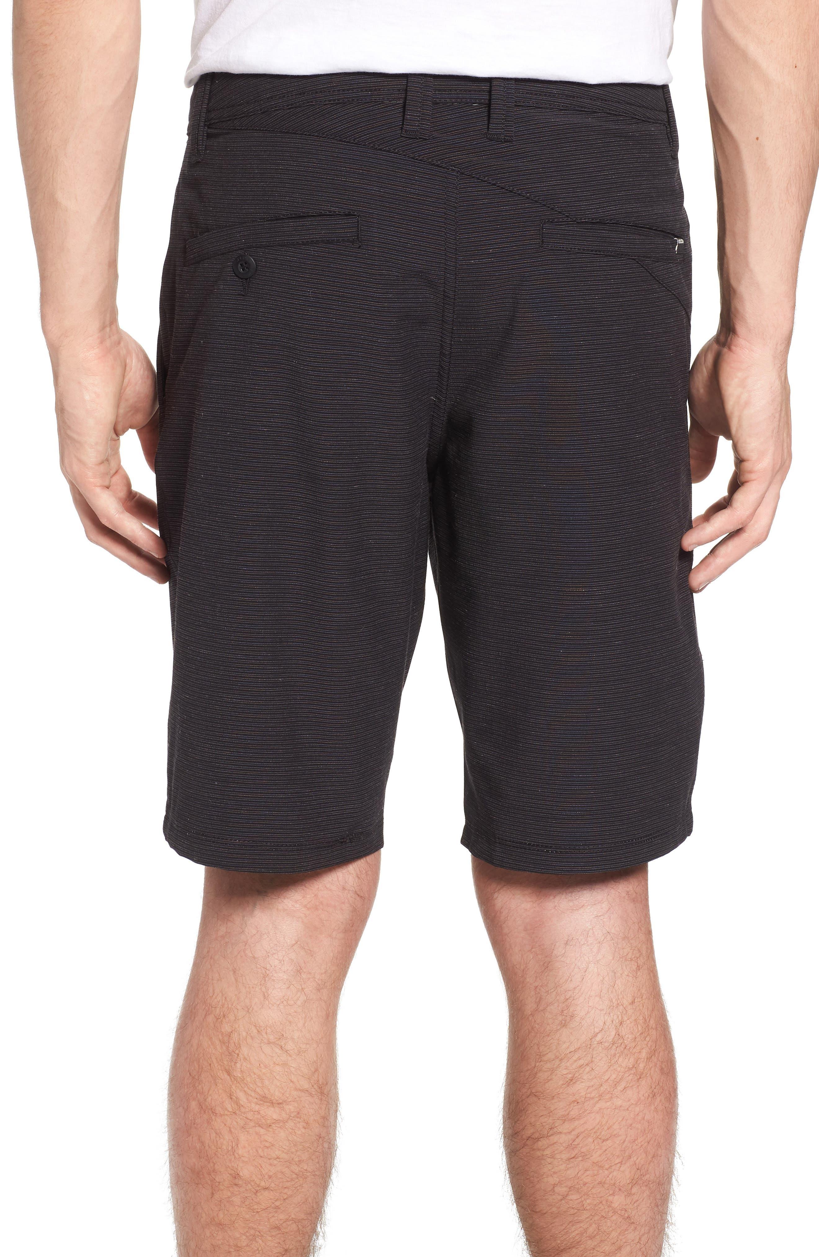 Surf N' Turf Slub Hybrid Shorts,                             Alternate thumbnail 2, color,                             Black