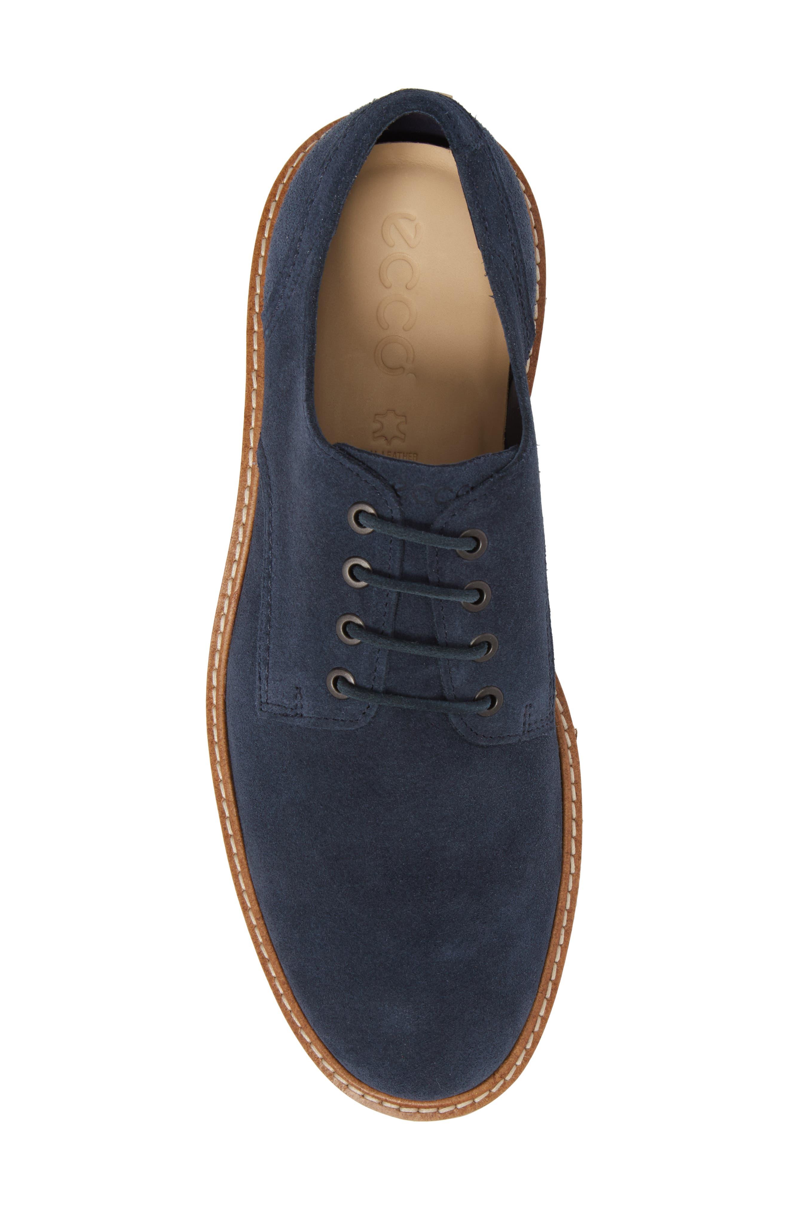 Aurora Hybrid Plain Toe Derby,                             Alternate thumbnail 5, color,                             Marine Leather