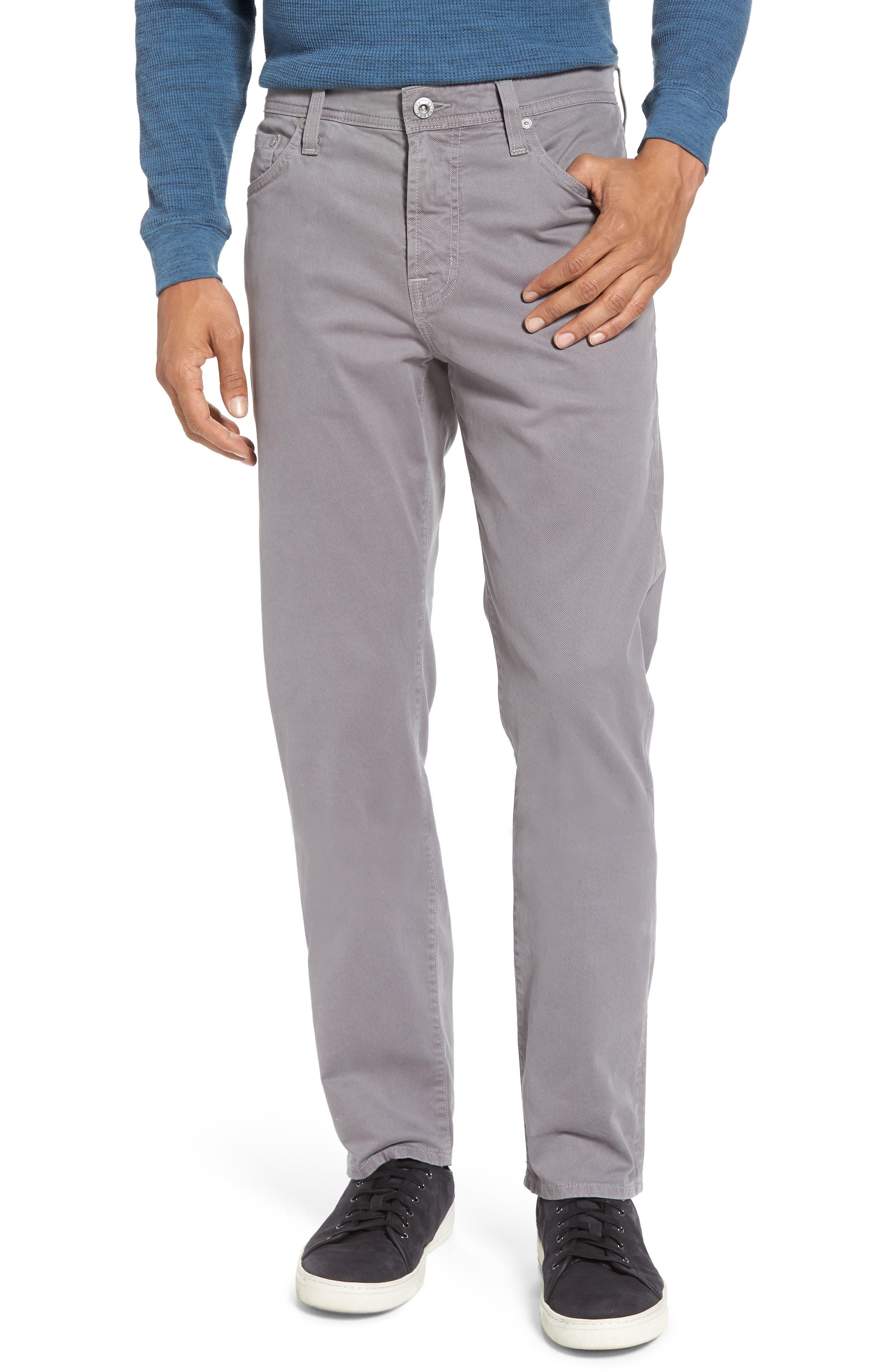 AG Herringbone Everett SUD Straight Leg Pants