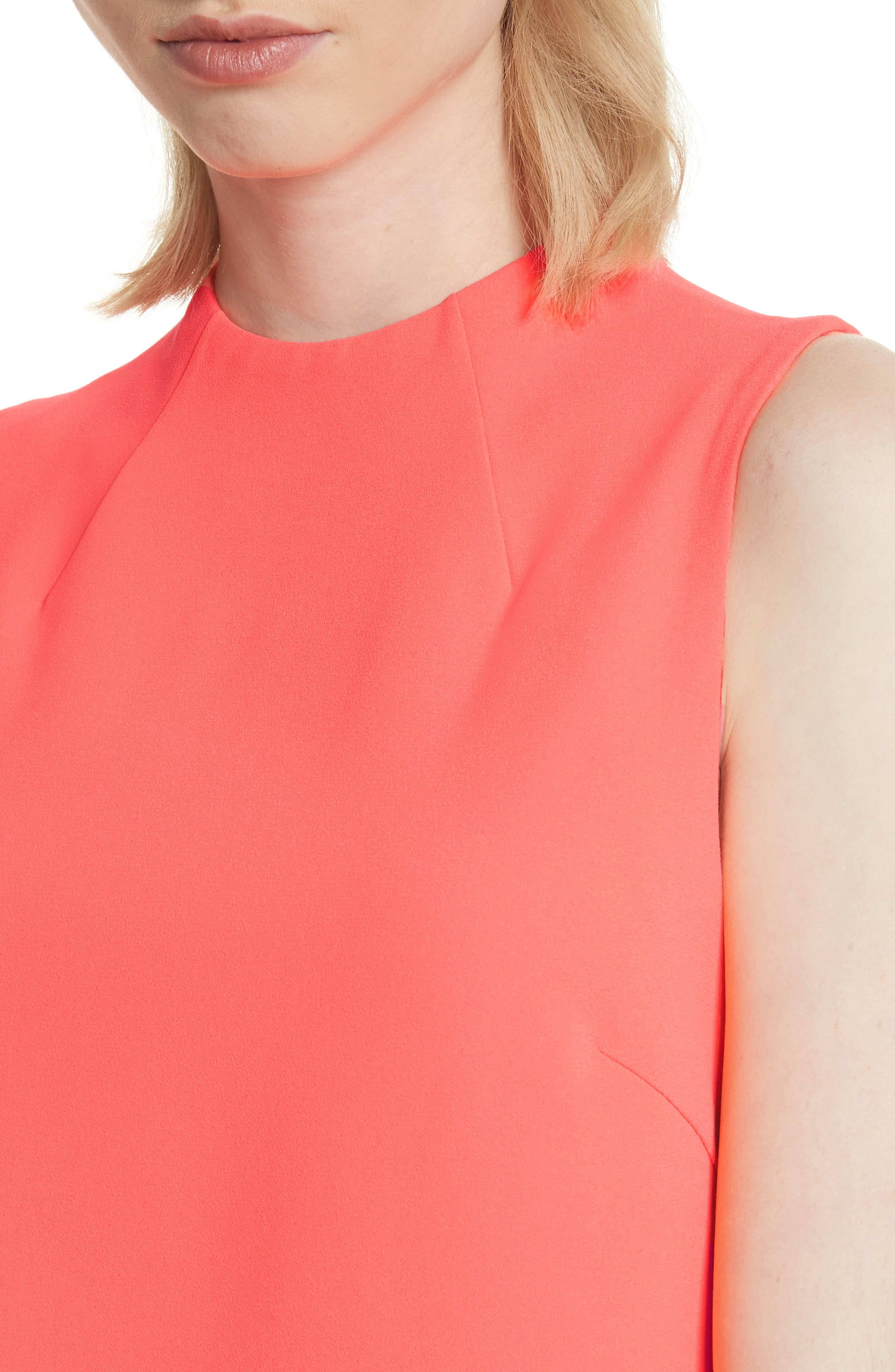 Coley A-Line Shift Dress,                             Alternate thumbnail 4, color,                             Neon Coral