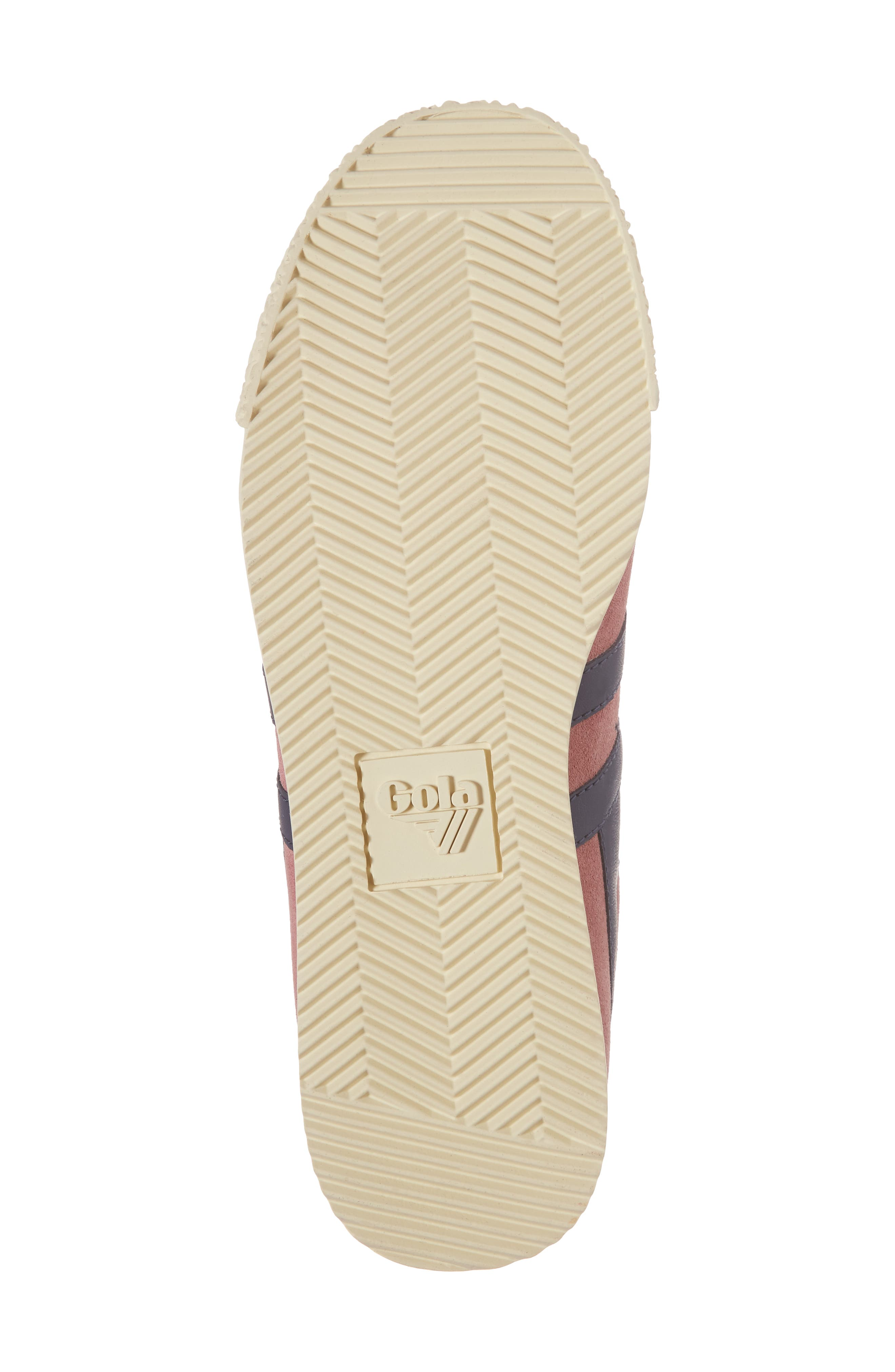 Harrier Suede Low Top Sneaker,                             Alternate thumbnail 6, color,                             Dusty Rose/ Navy
