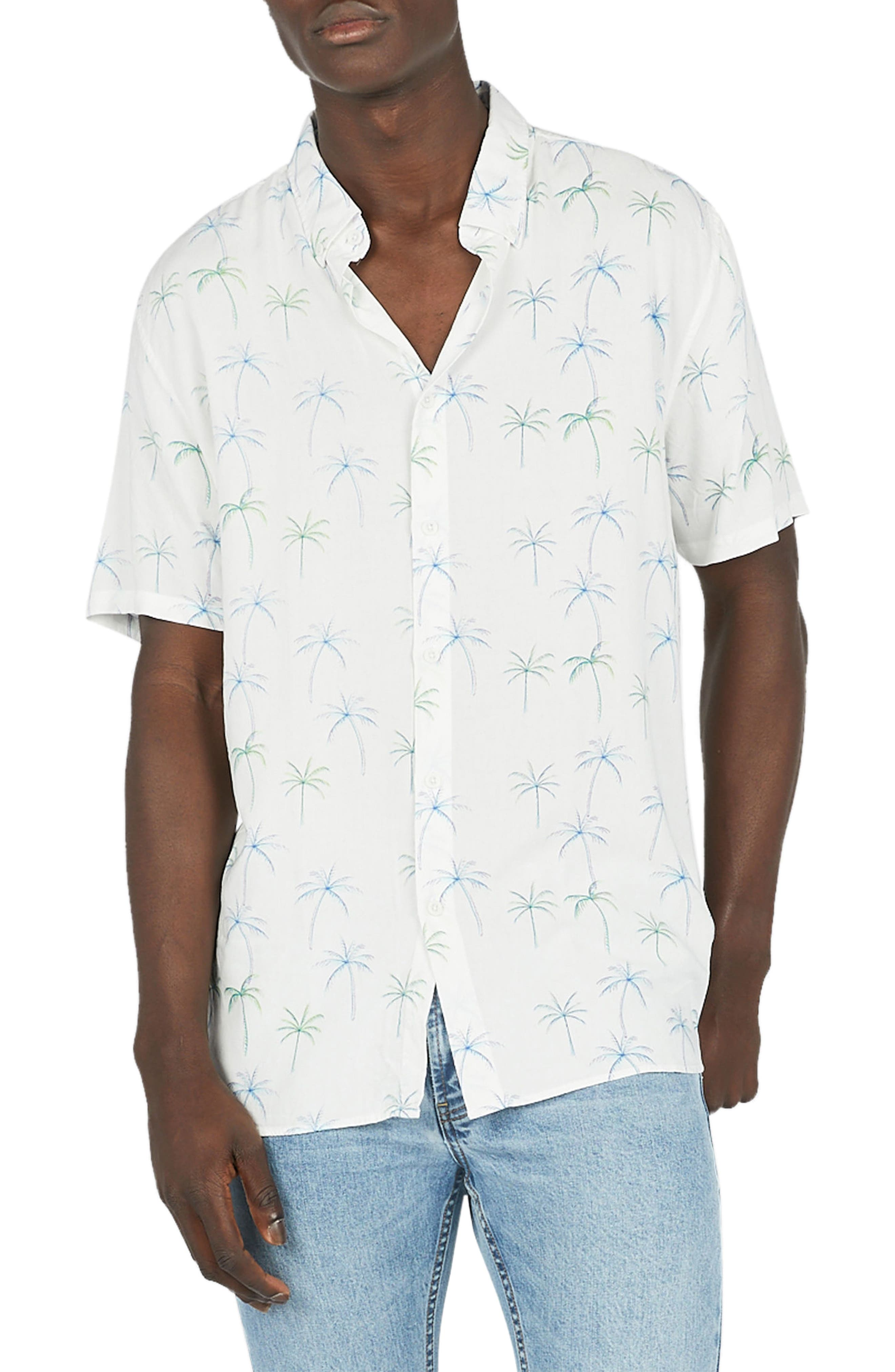 Holiday Woven Shirt,                         Main,                         color, White Palm