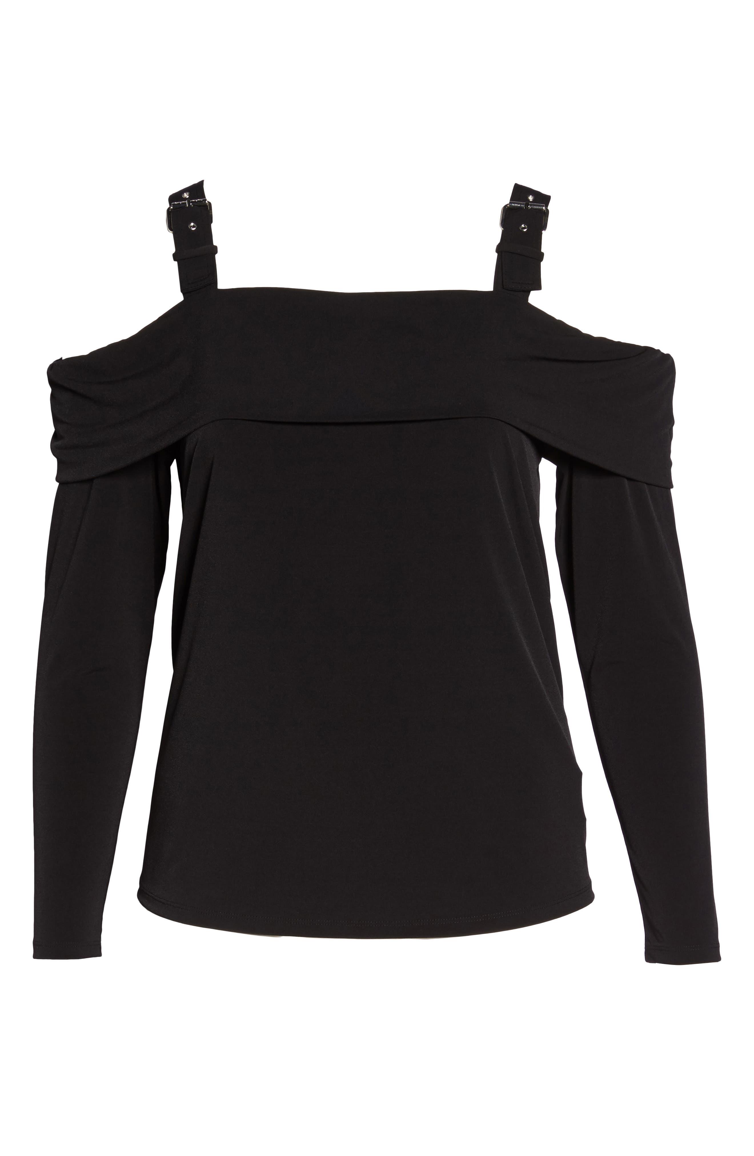 Alternate Image 6  - MICHAEL Michael Kors Buckle Strap Off the Shoulder Top (Plus Size)