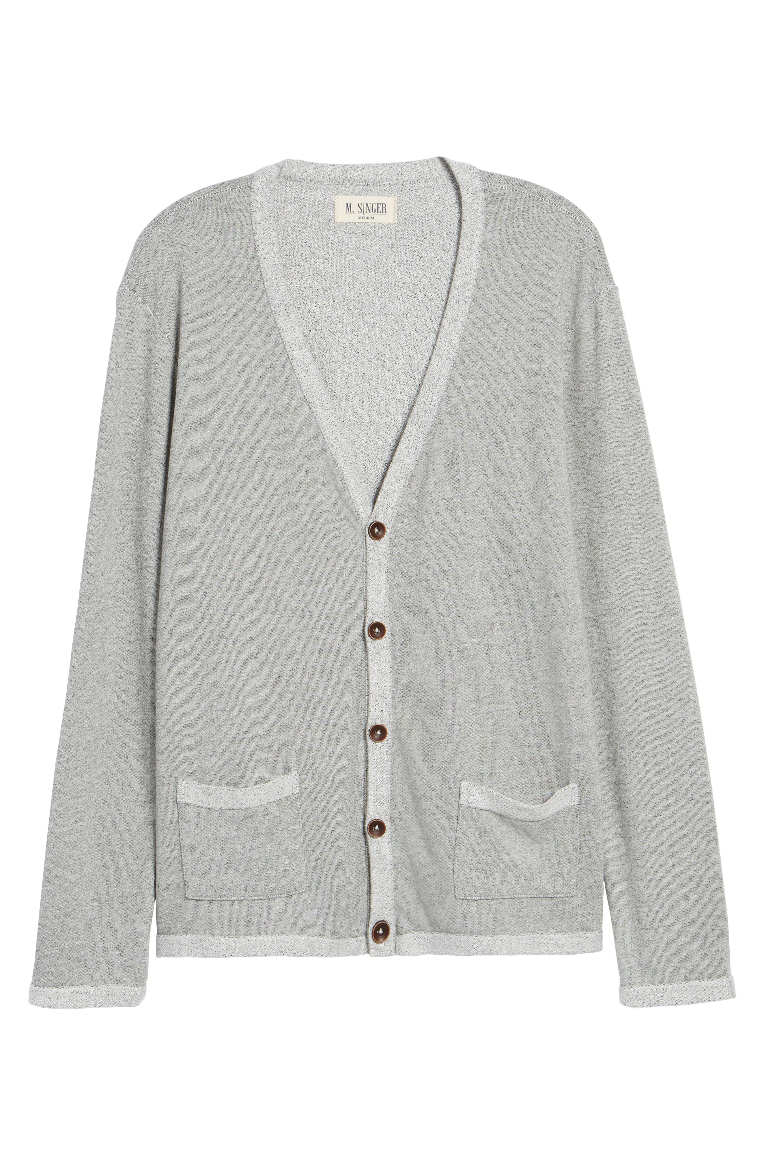 Cardigan,                             Alternate thumbnail 6, color,                             Heather Grey
