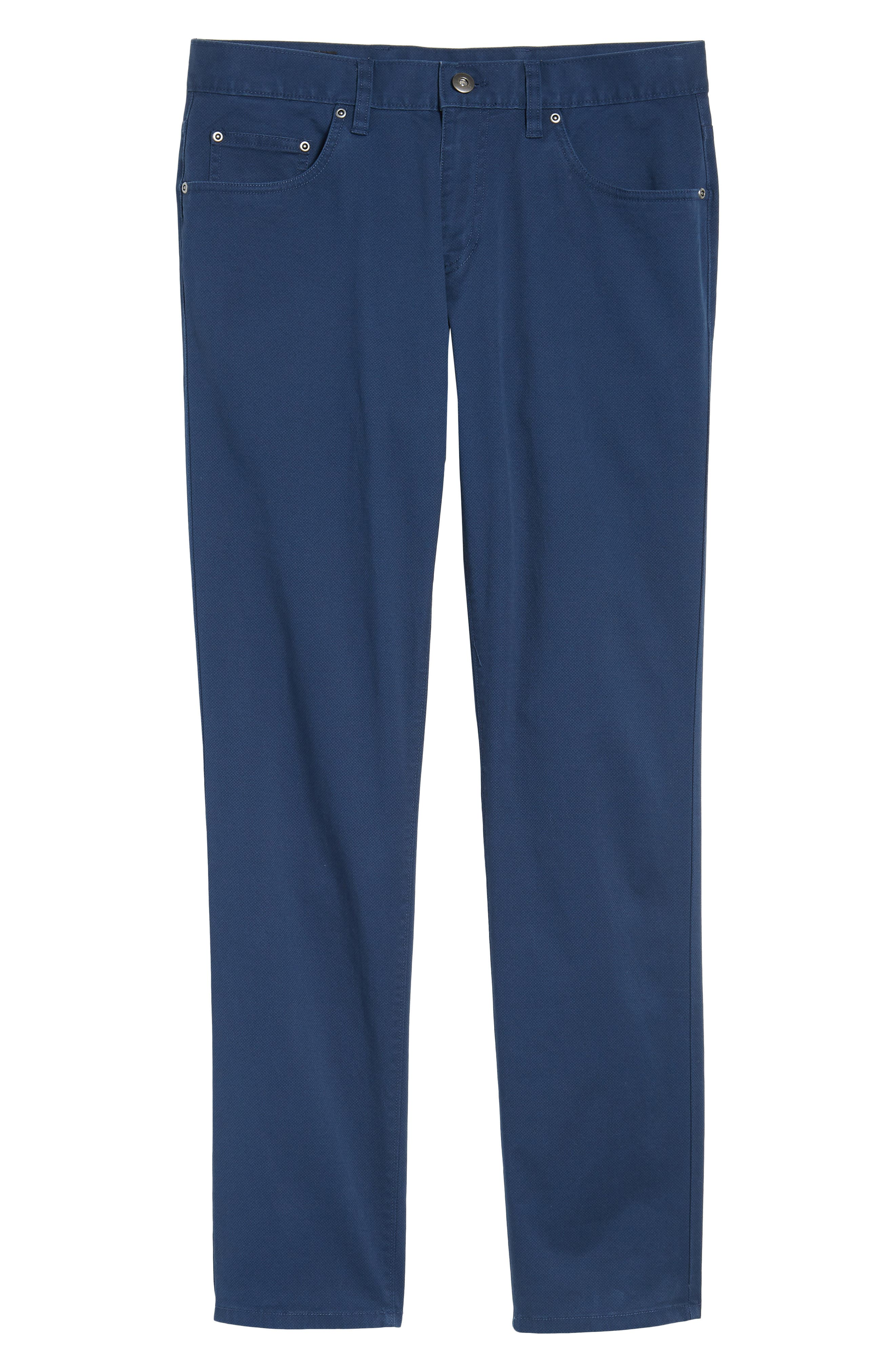 Alternate Image 6  - Nordstrom Men's Shop Textured Stretch Cotton Pants