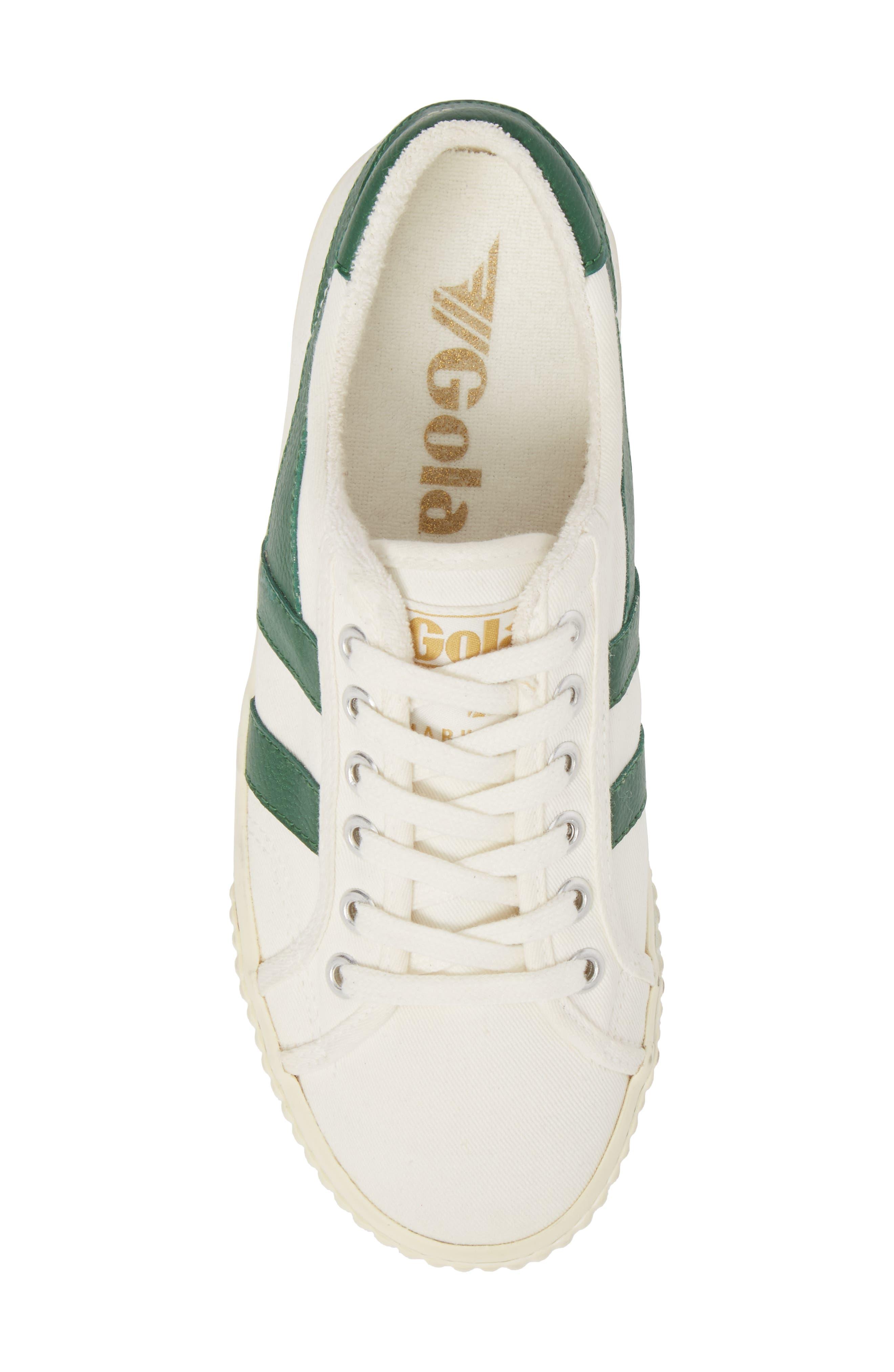 Tennis Mark Cox Sneaker,                             Alternate thumbnail 5, color,                             Off White/ Green