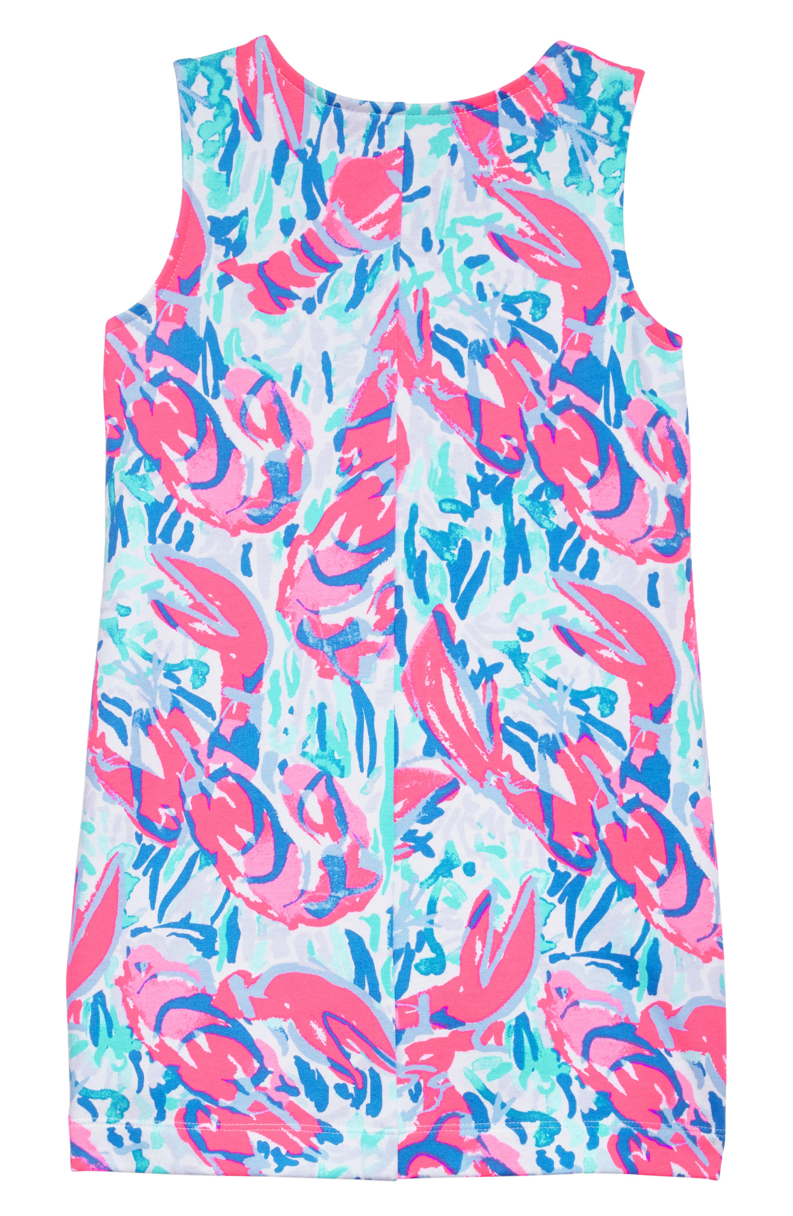 Mini Harper Shift Dress,                             Alternate thumbnail 2, color,                             Cosmic Coral Cracked Up
