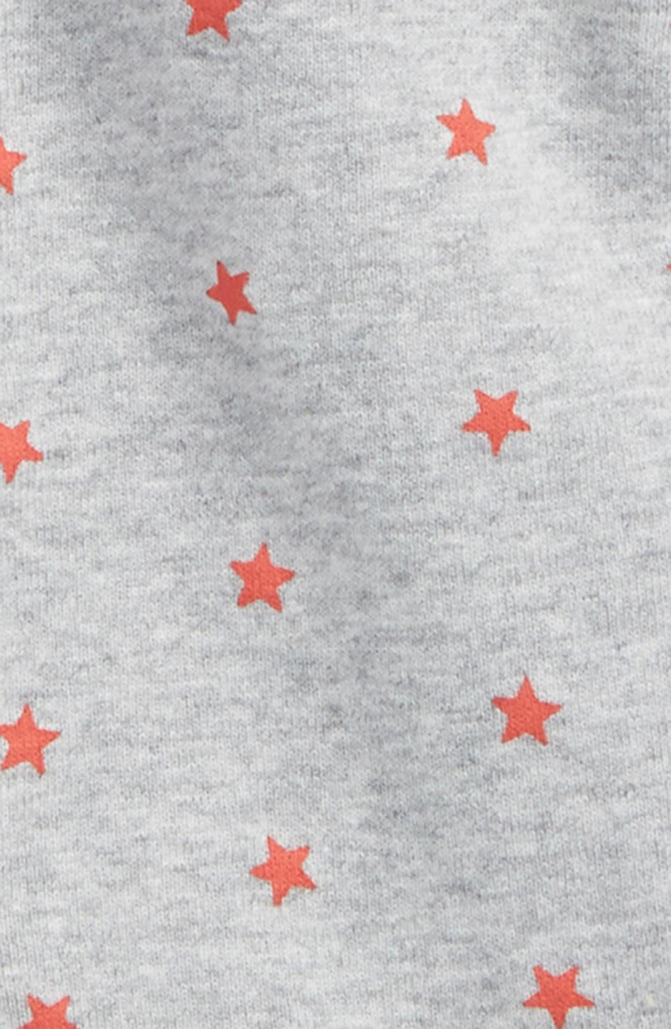 Print Organic Cotton One-Piece Pajamas,                             Alternate thumbnail 2, color,                             Grey Marl/ Crayon Red