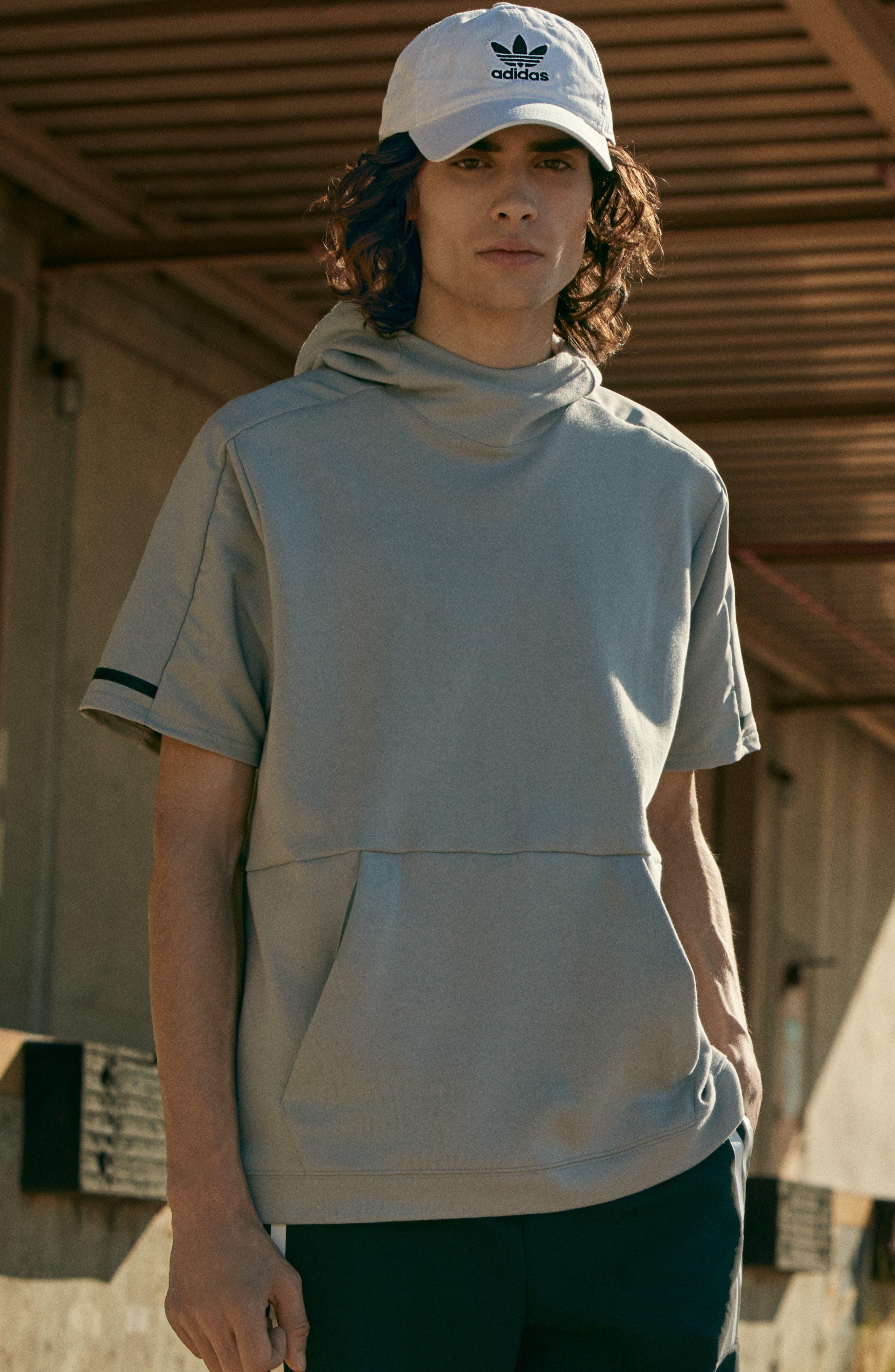 Alternate Image 5  - adidas SQD Short Sleeve Hoodie