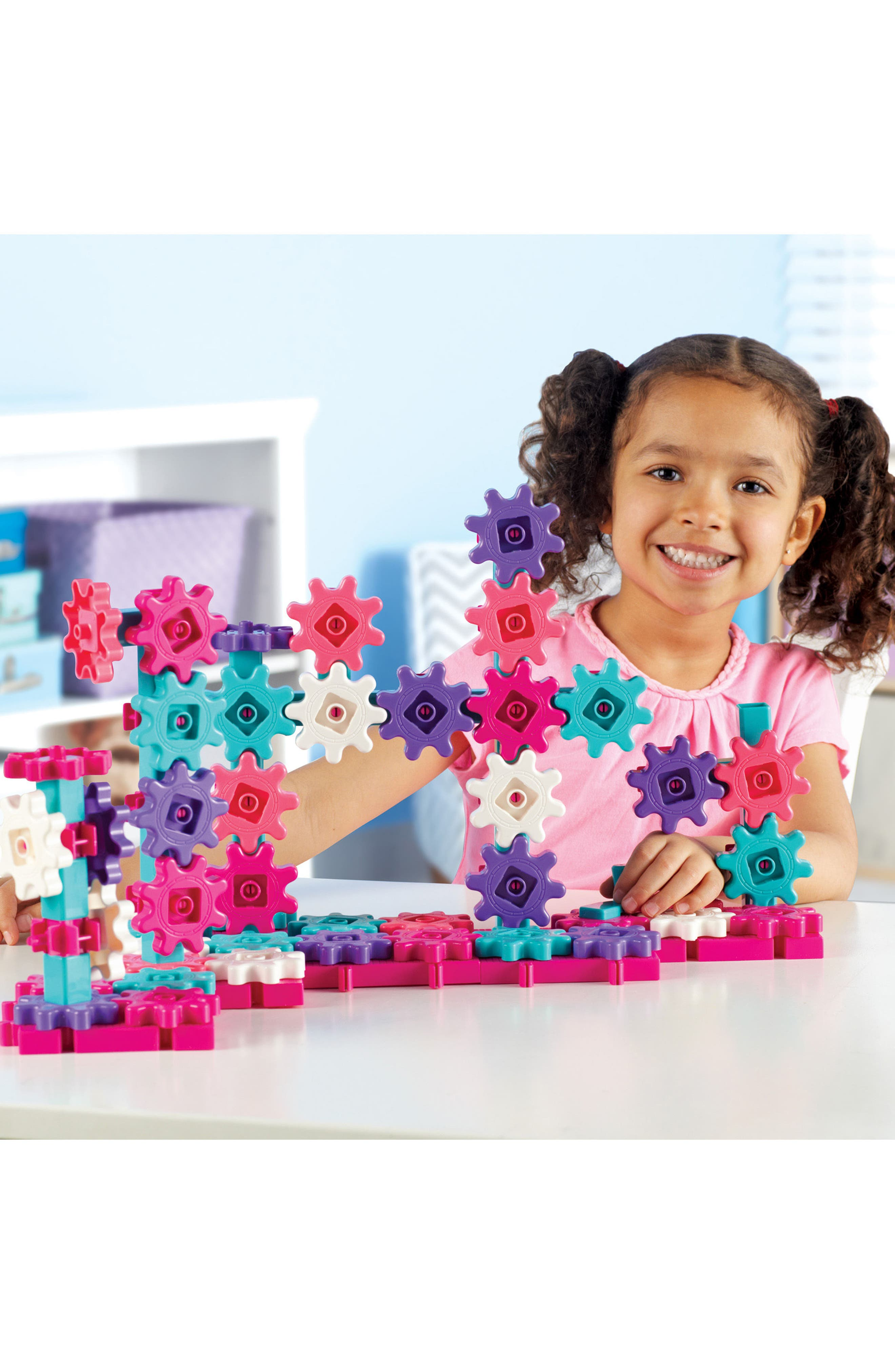 Learning Resources Gears! Gears! Gears!<sup>®</sup> Beginner's Building Set,                             Alternate thumbnail 2, color,                             Pink