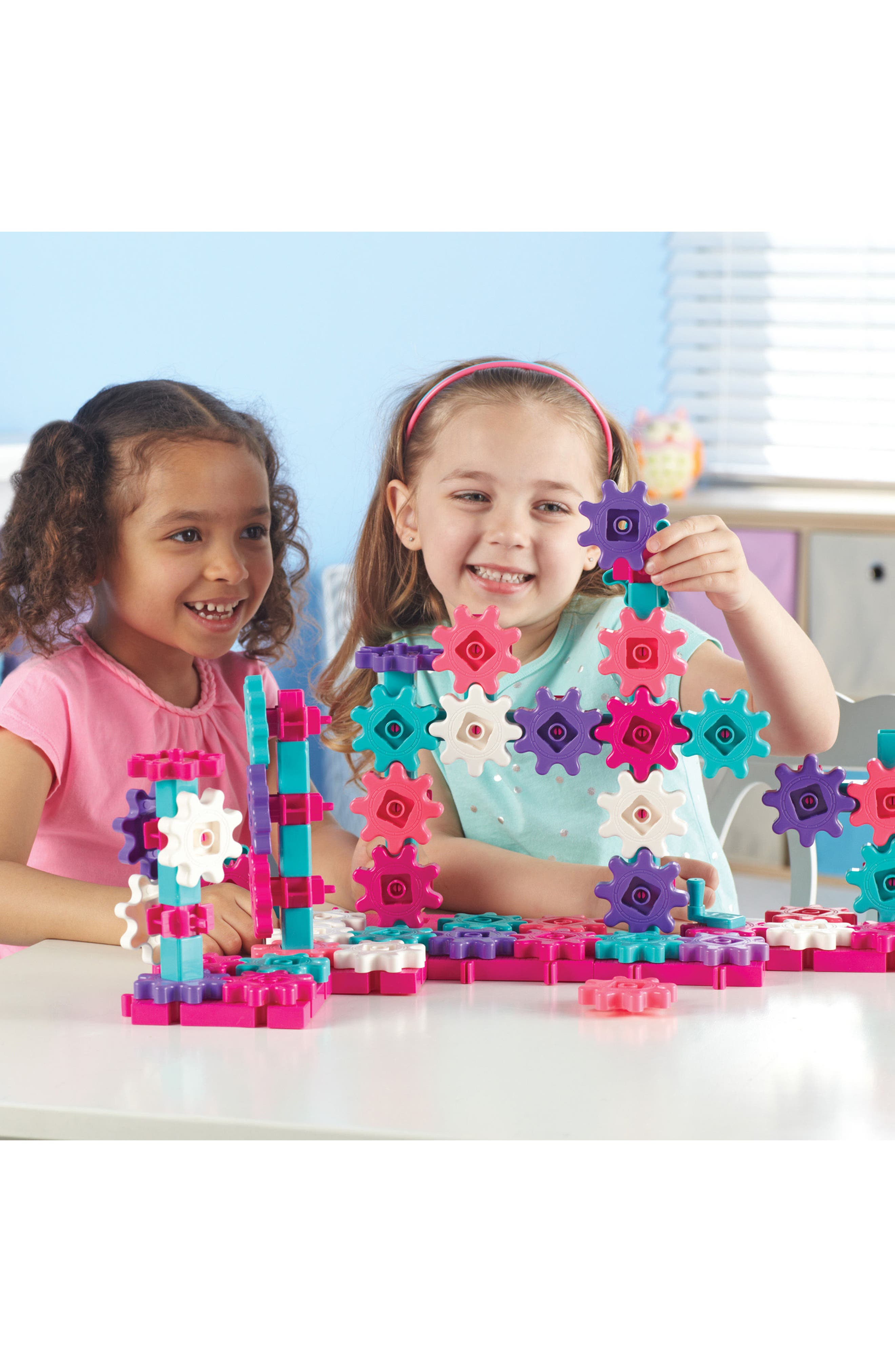 Learning Resources Gears! Gears! Gears!<sup>®</sup> Beginner's Building Set,                             Alternate thumbnail 3, color,                             Pink