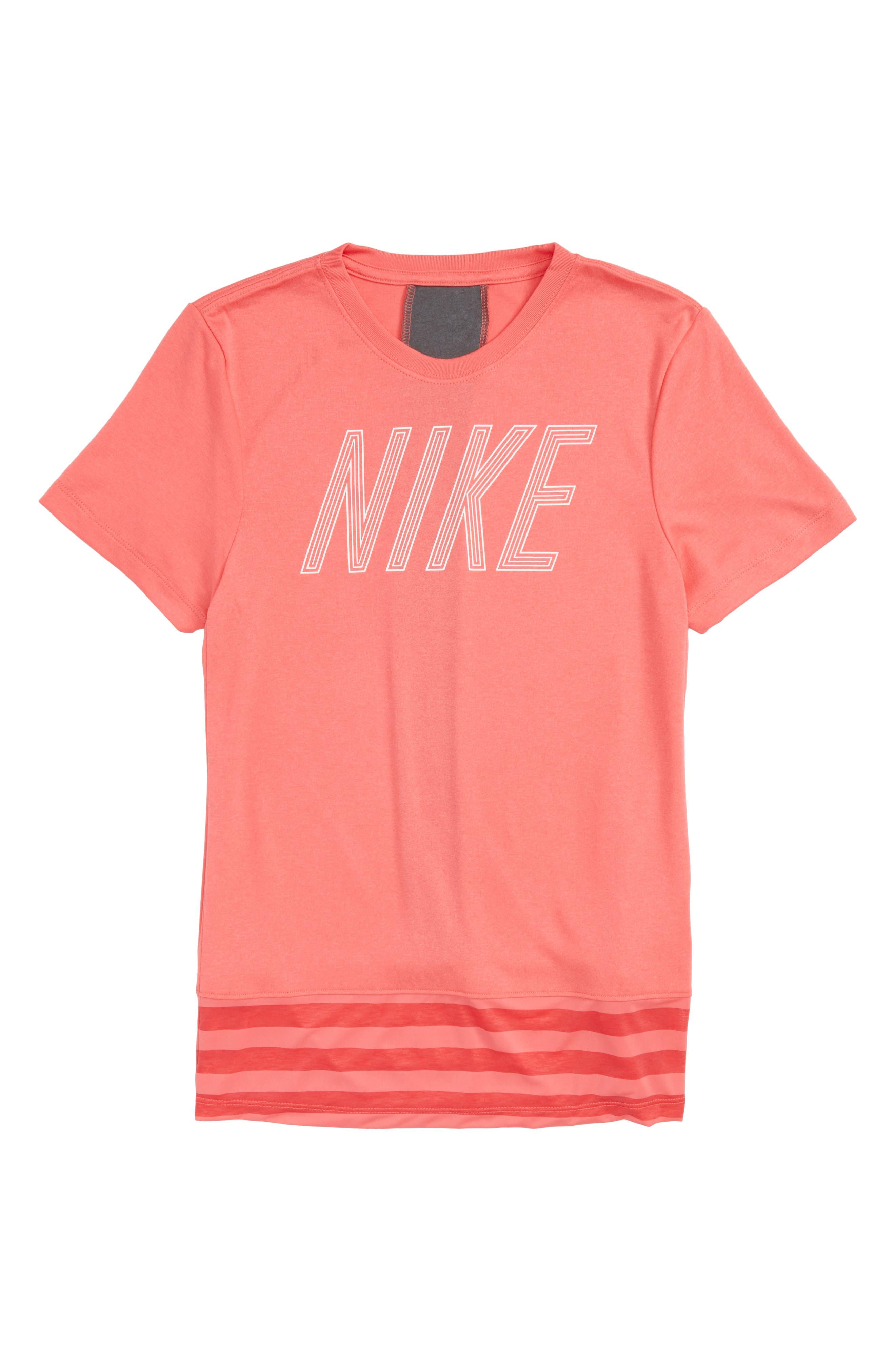 Nike Dry Logo Graphic Tee (Big Girls)
