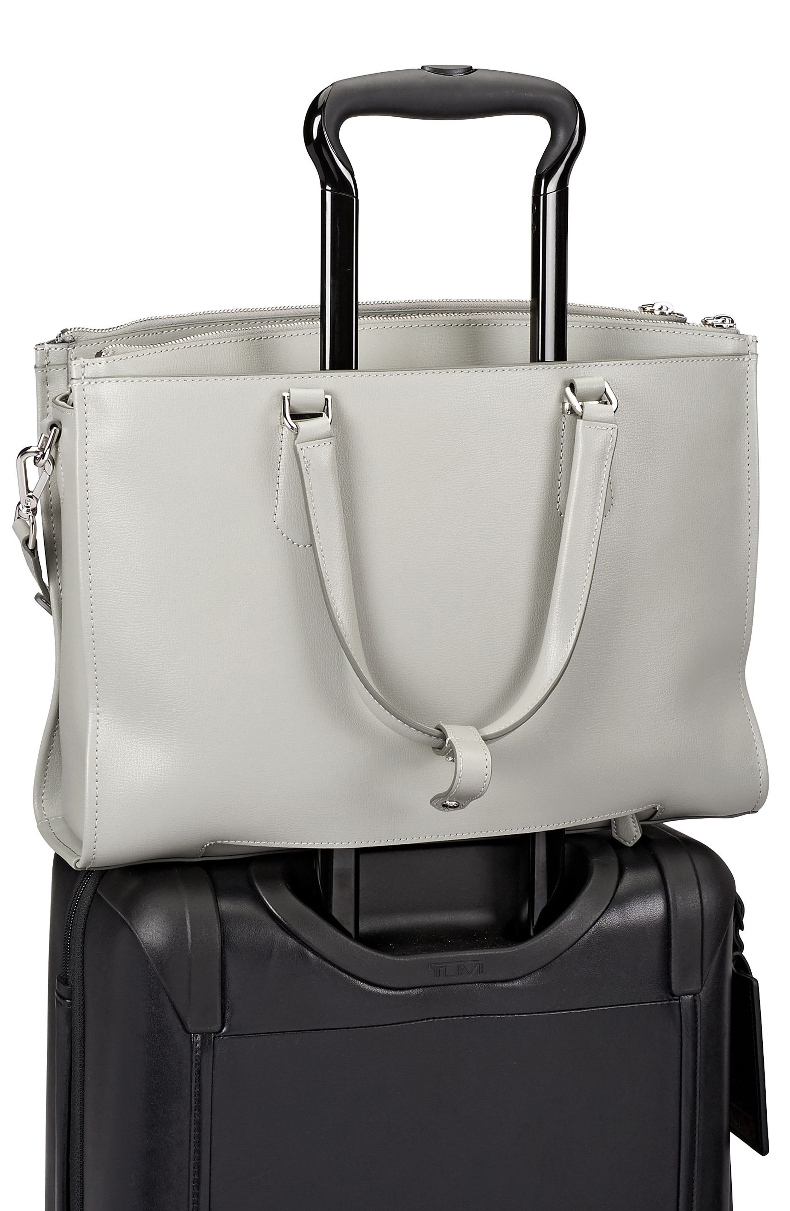 Stanton – Esme Leather Business Briefcase,                             Alternate thumbnail 5, color,                             Light Grey