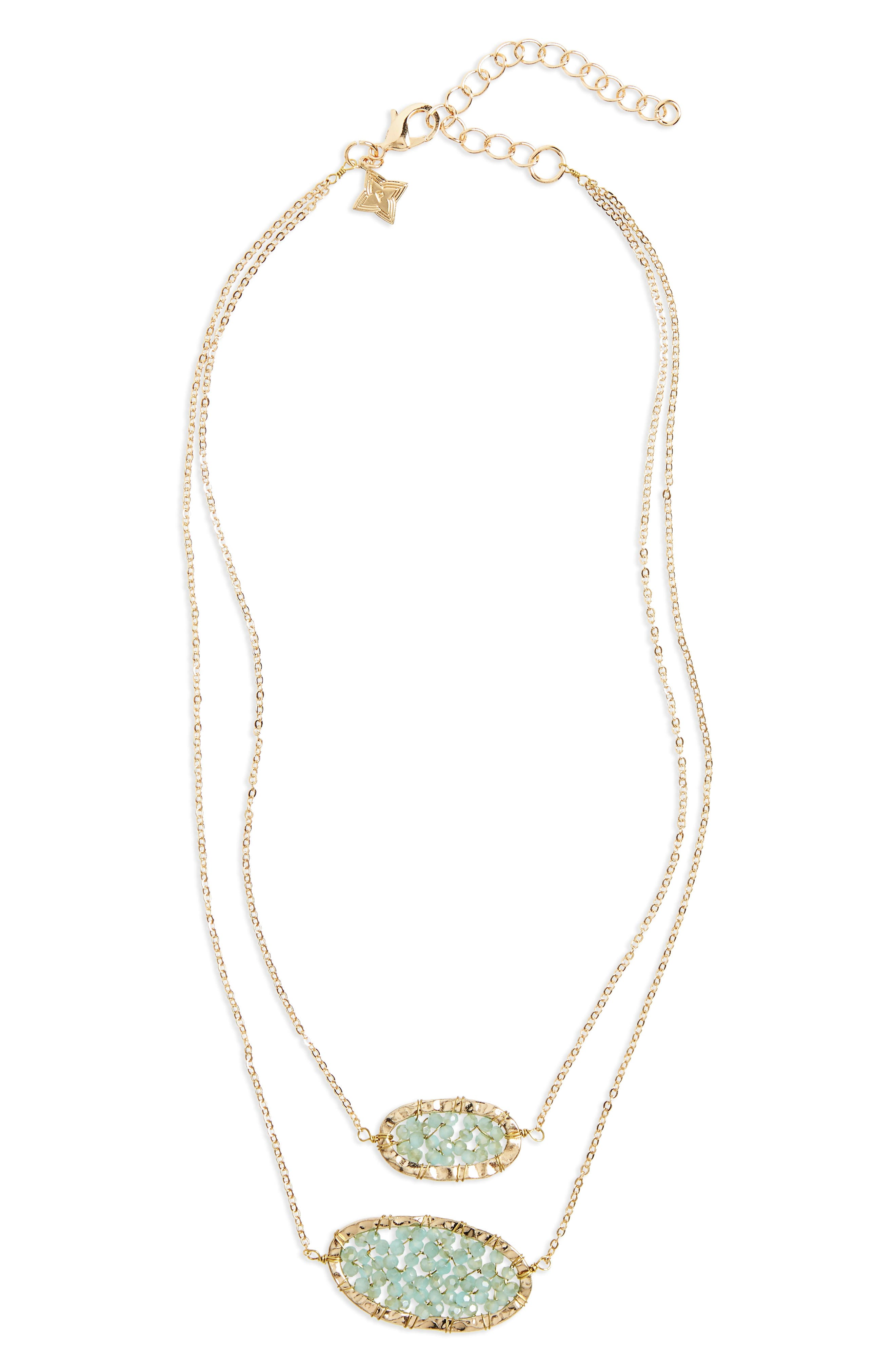 Panacea Crystal Over Layered Necklace