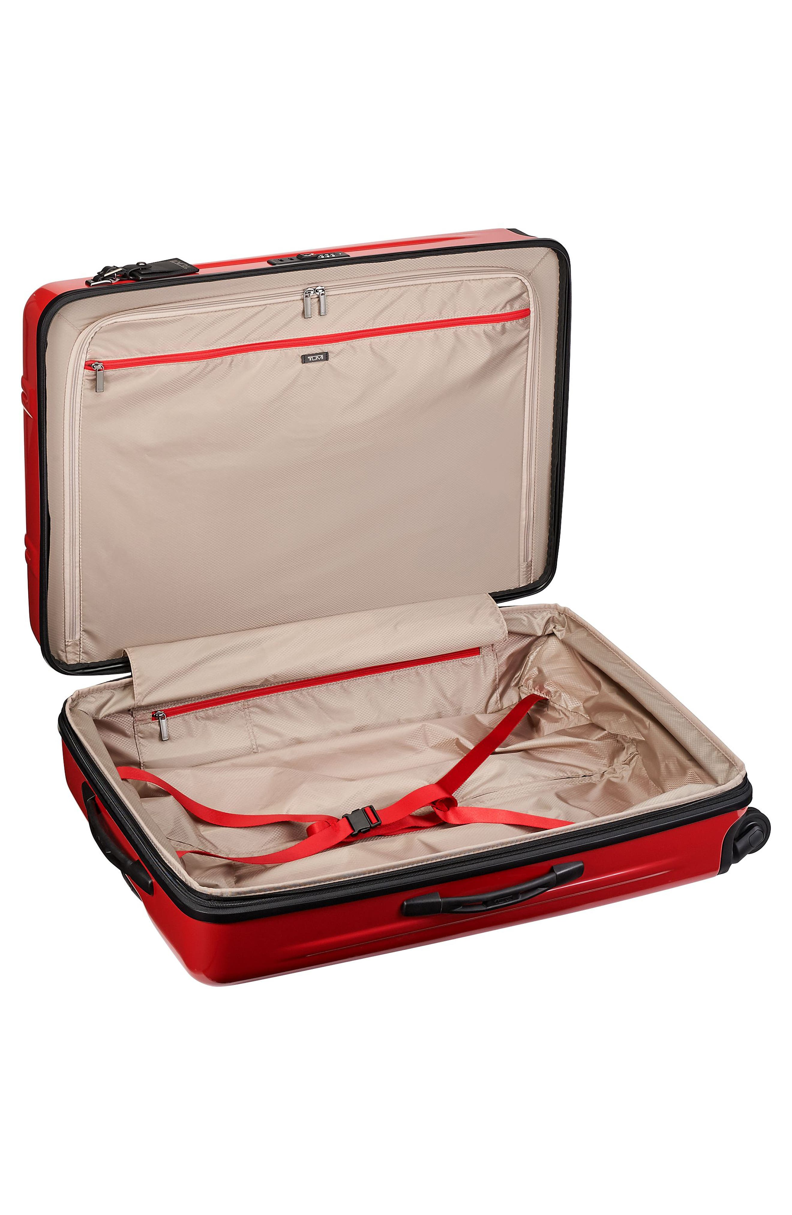 Extended Trip Expandable Wheeled 31-Inch Packing Case,                             Alternate thumbnail 4, color,                             Hot Pink