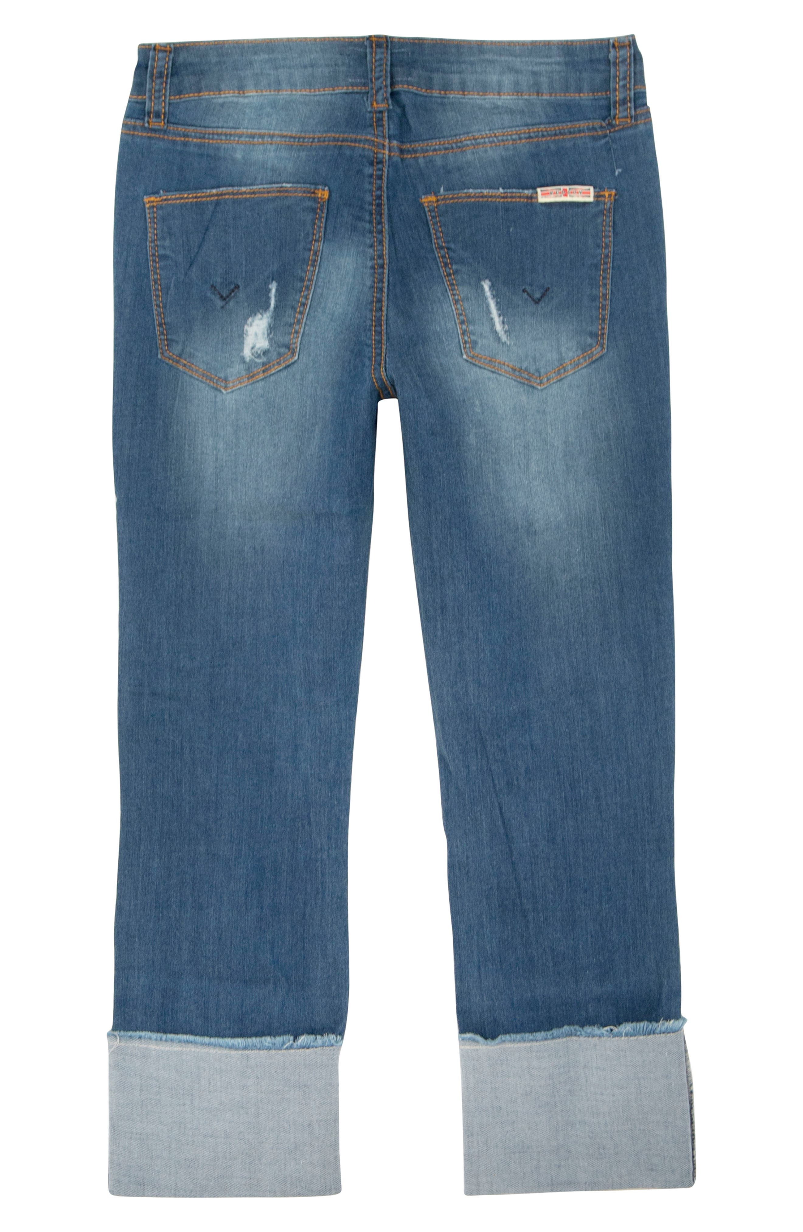 Jessa Crop Skinny Jeans,                             Alternate thumbnail 2, color,                             Jetty Blue