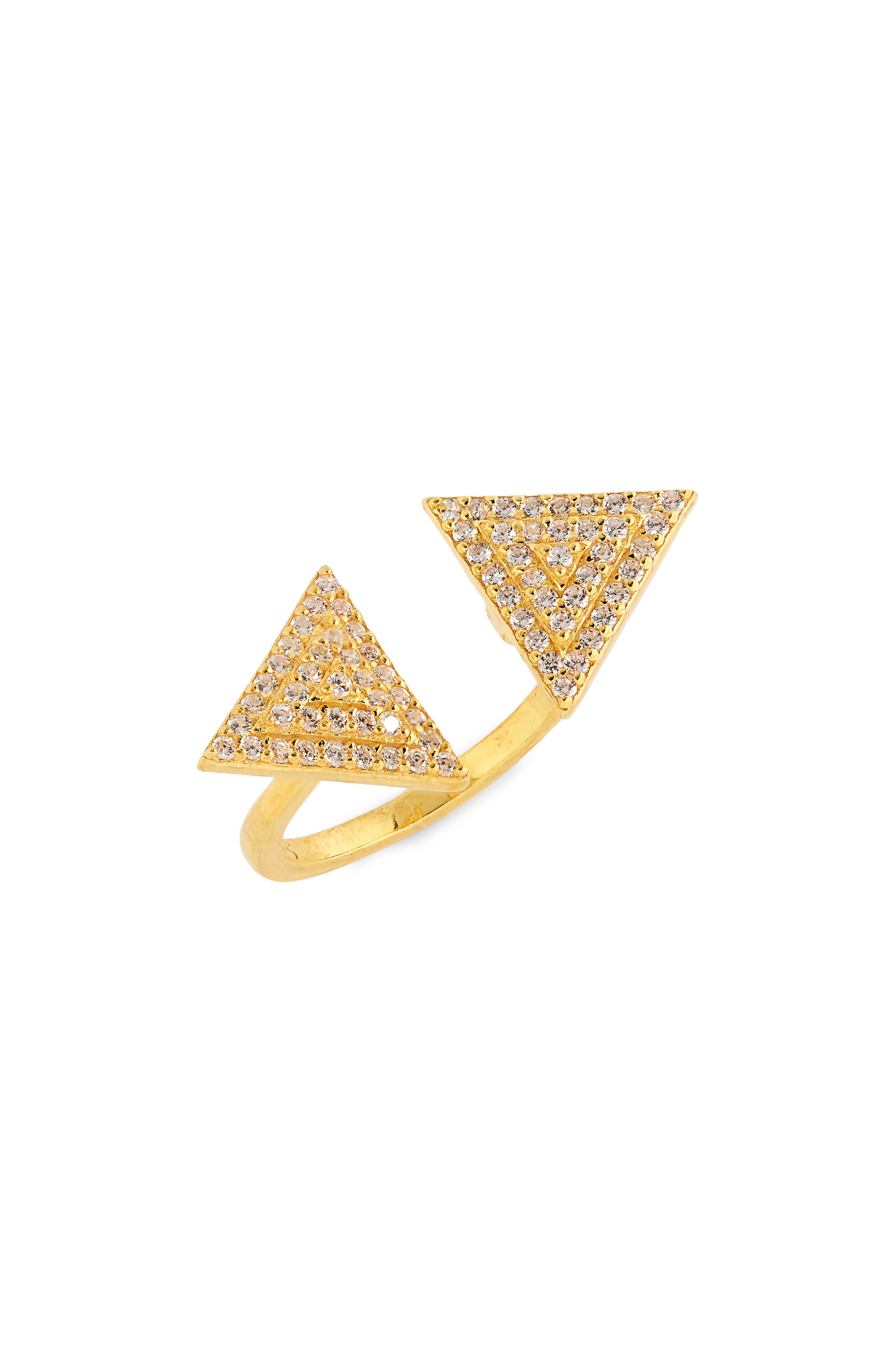 Anuja Tolia Crystal Open Ring