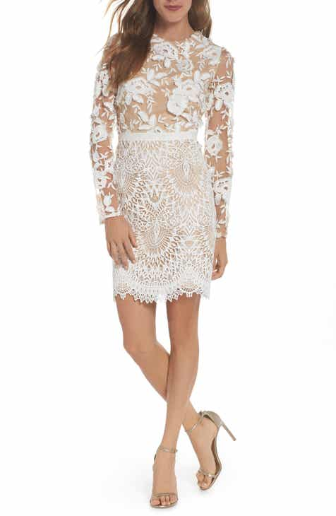 87ed4584b35 ML Monique Lhuillier Calypso Lace Sheath Dress