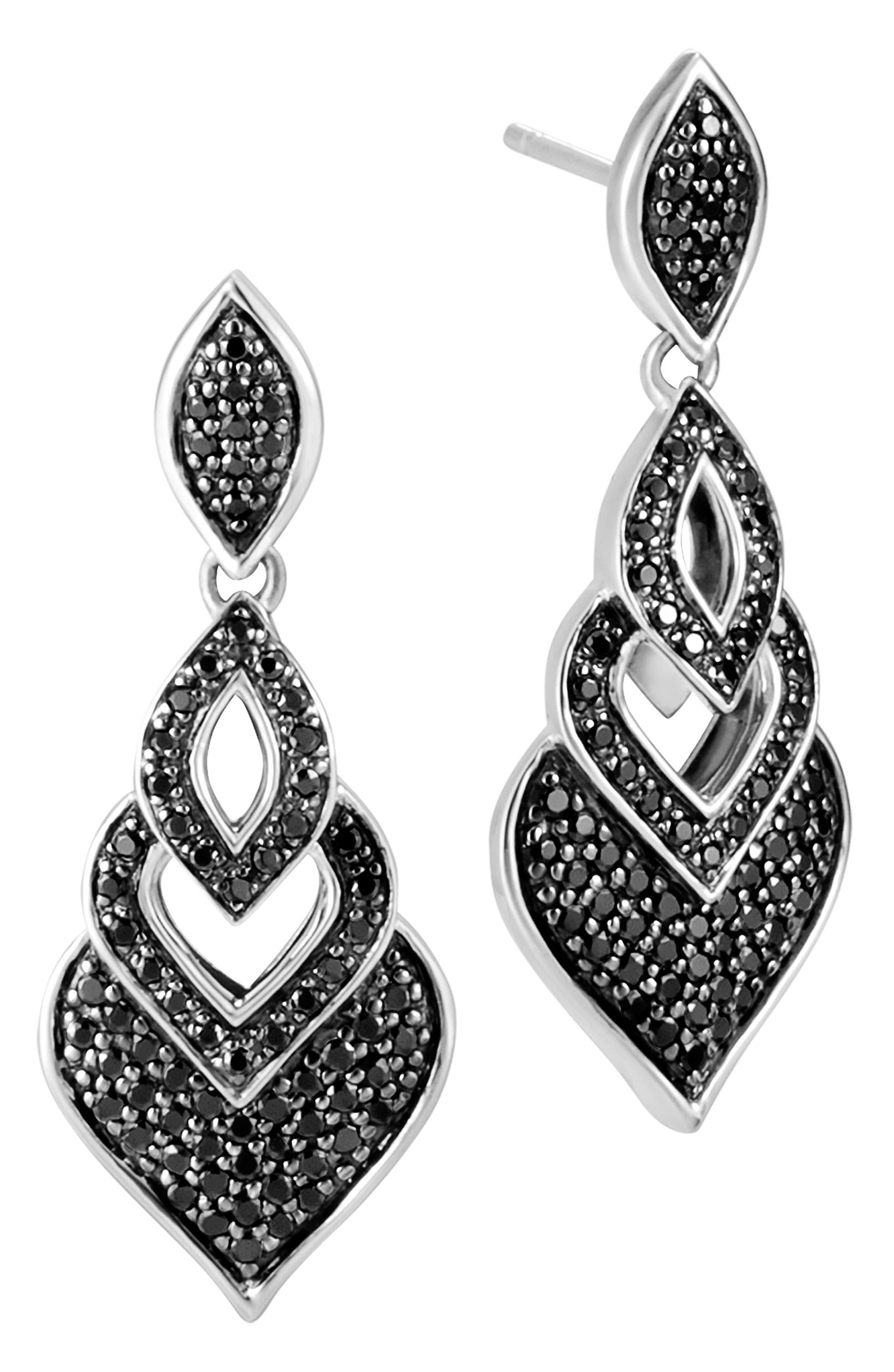 Legends Naga Drop Earrings,                             Main thumbnail 1, color,                             Silver