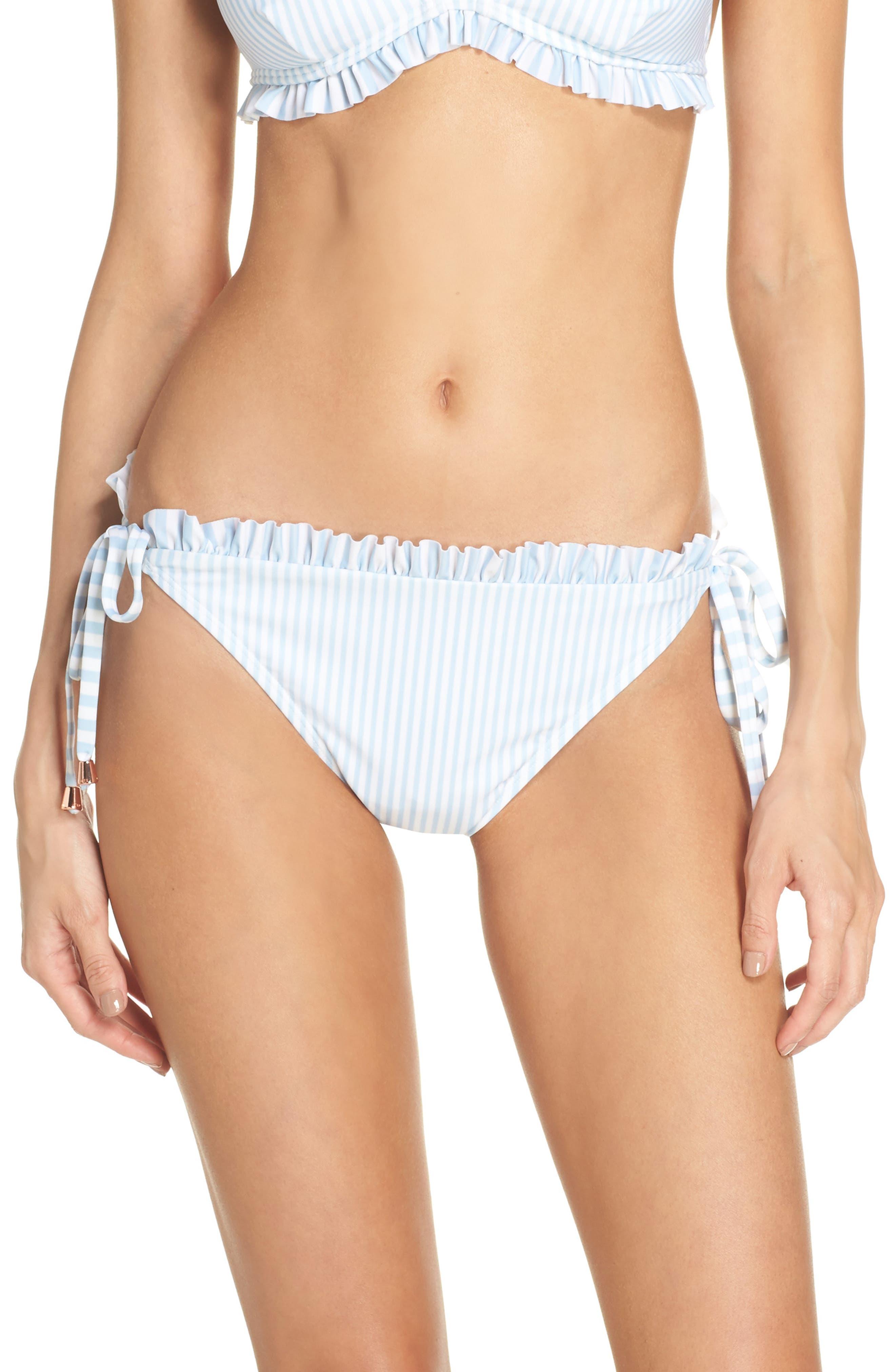 Side Tie Bikini Bottoms,                             Main thumbnail 1, color,                             Pale Blue