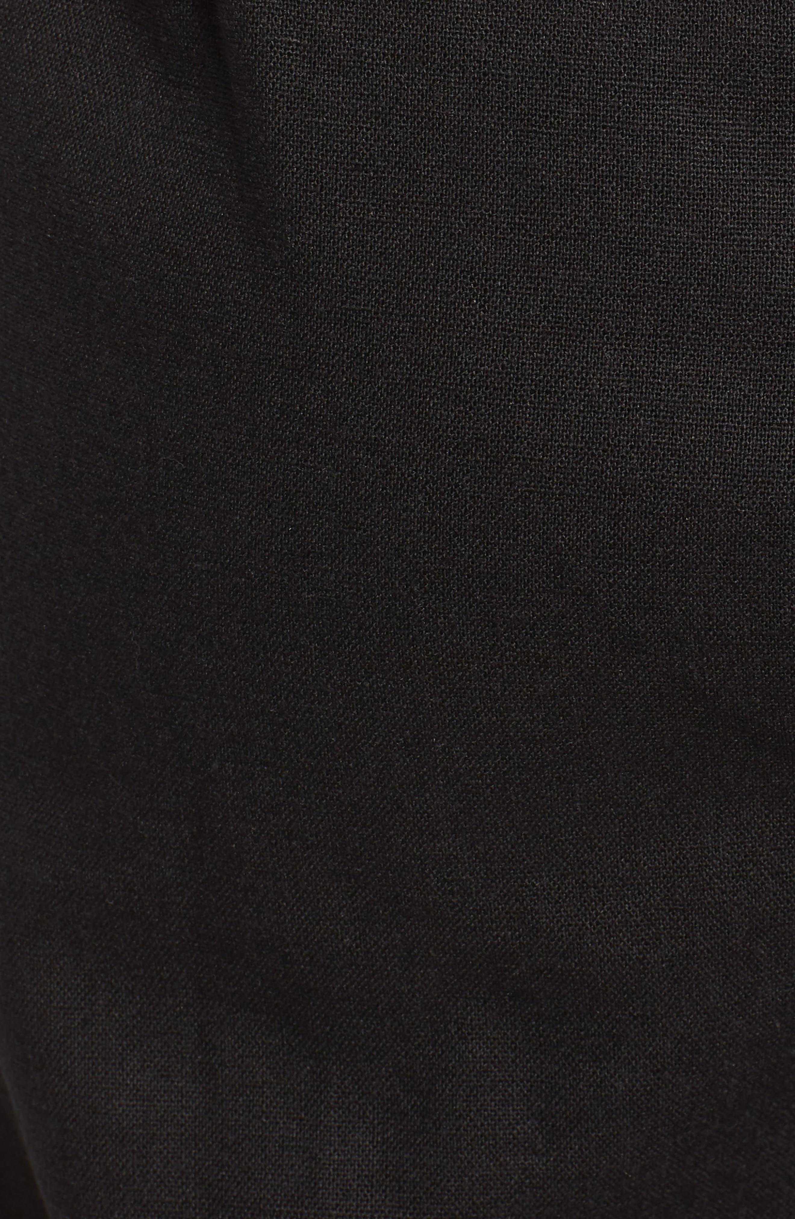 Crop Wide Leg Jumpsuit,                             Alternate thumbnail 5, color,                             Black