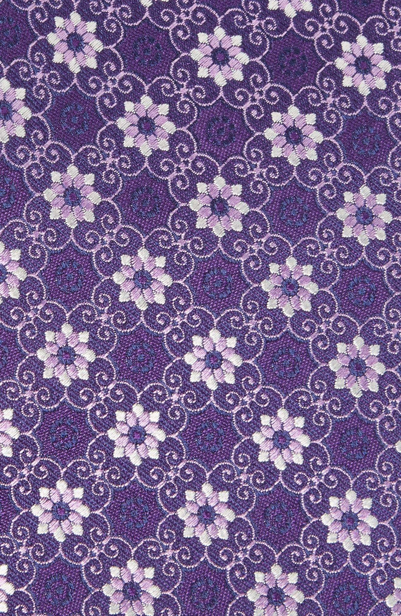 Alternate Image 2  - Canali Floral Silk Tie