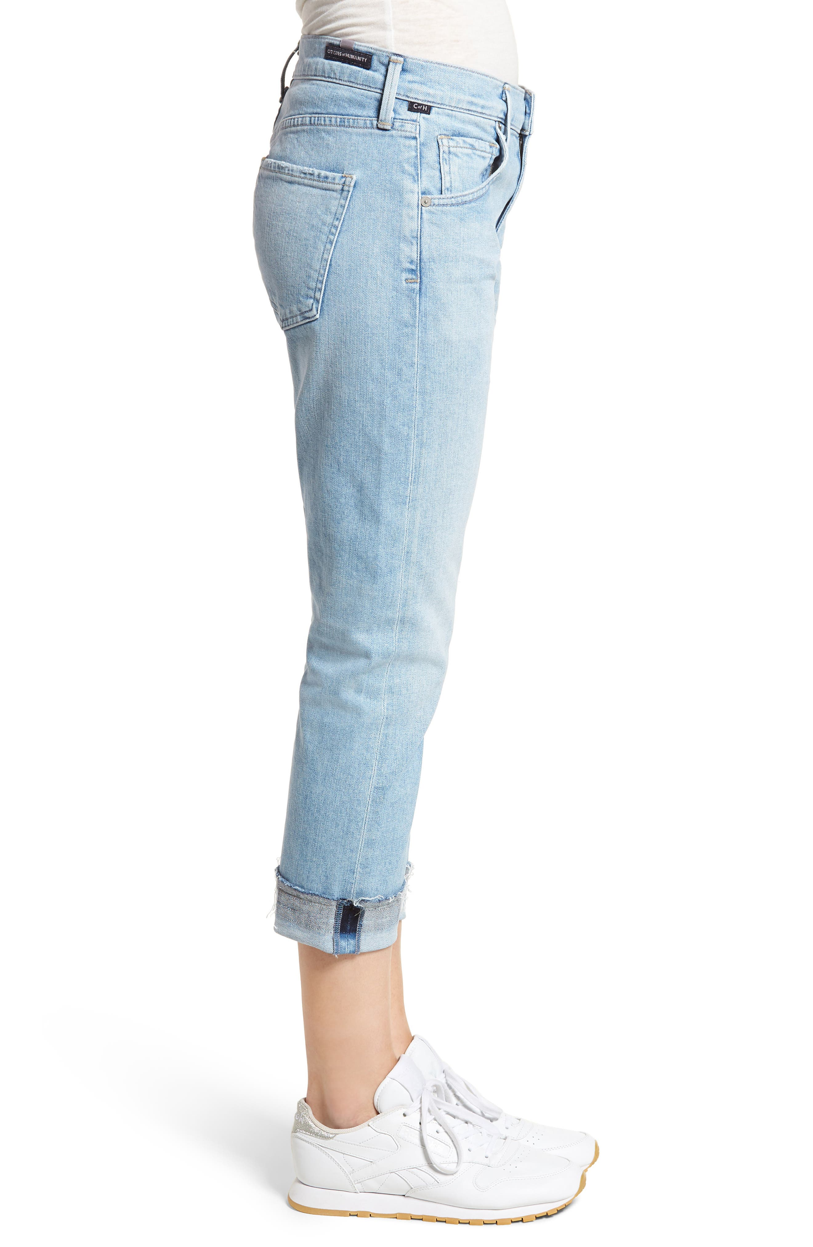 Emerson Ripped Crop Slim Boyfriend Jeans,                             Alternate thumbnail 3, color,                             Rising