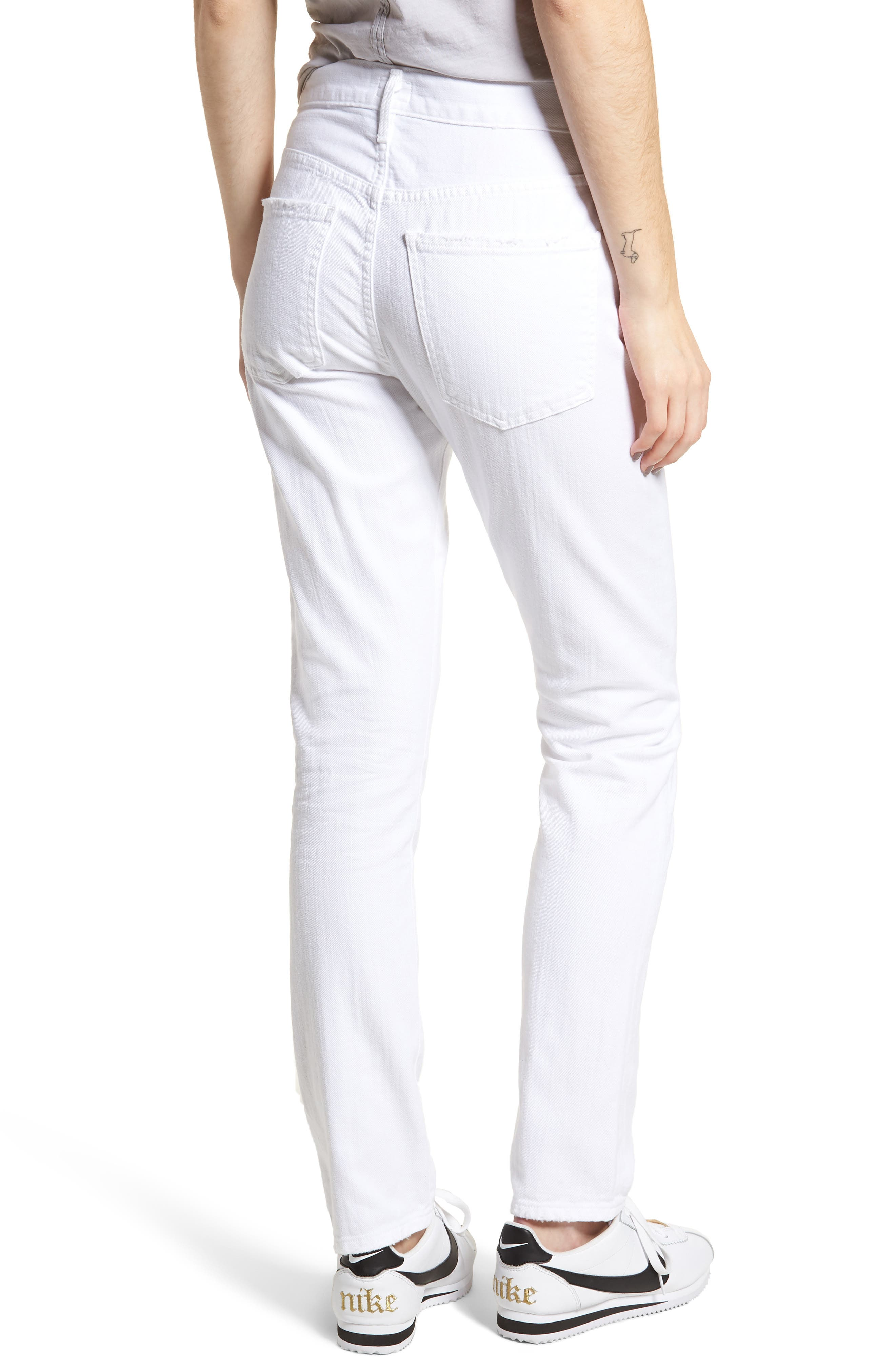 Corey Slouchy Slim Jeans,                             Alternate thumbnail 2, color,                             Distressed White