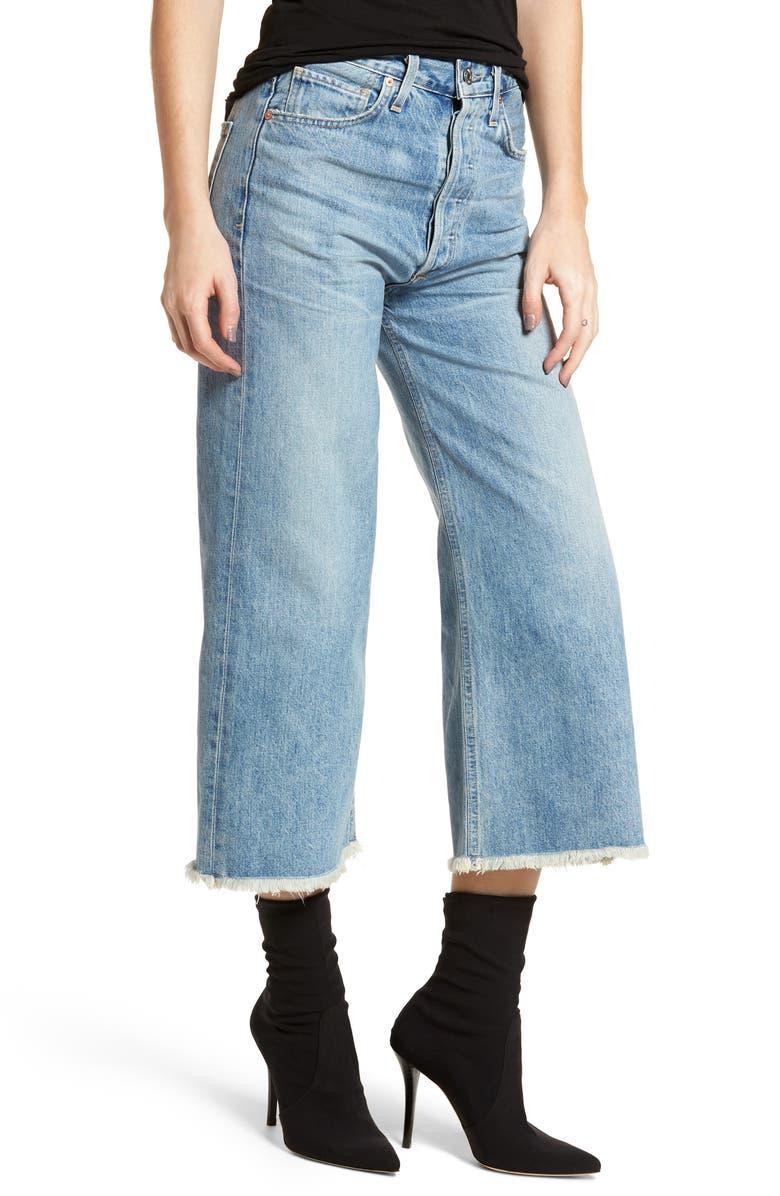 Emma High Waist Crop Wide Leg Jeans